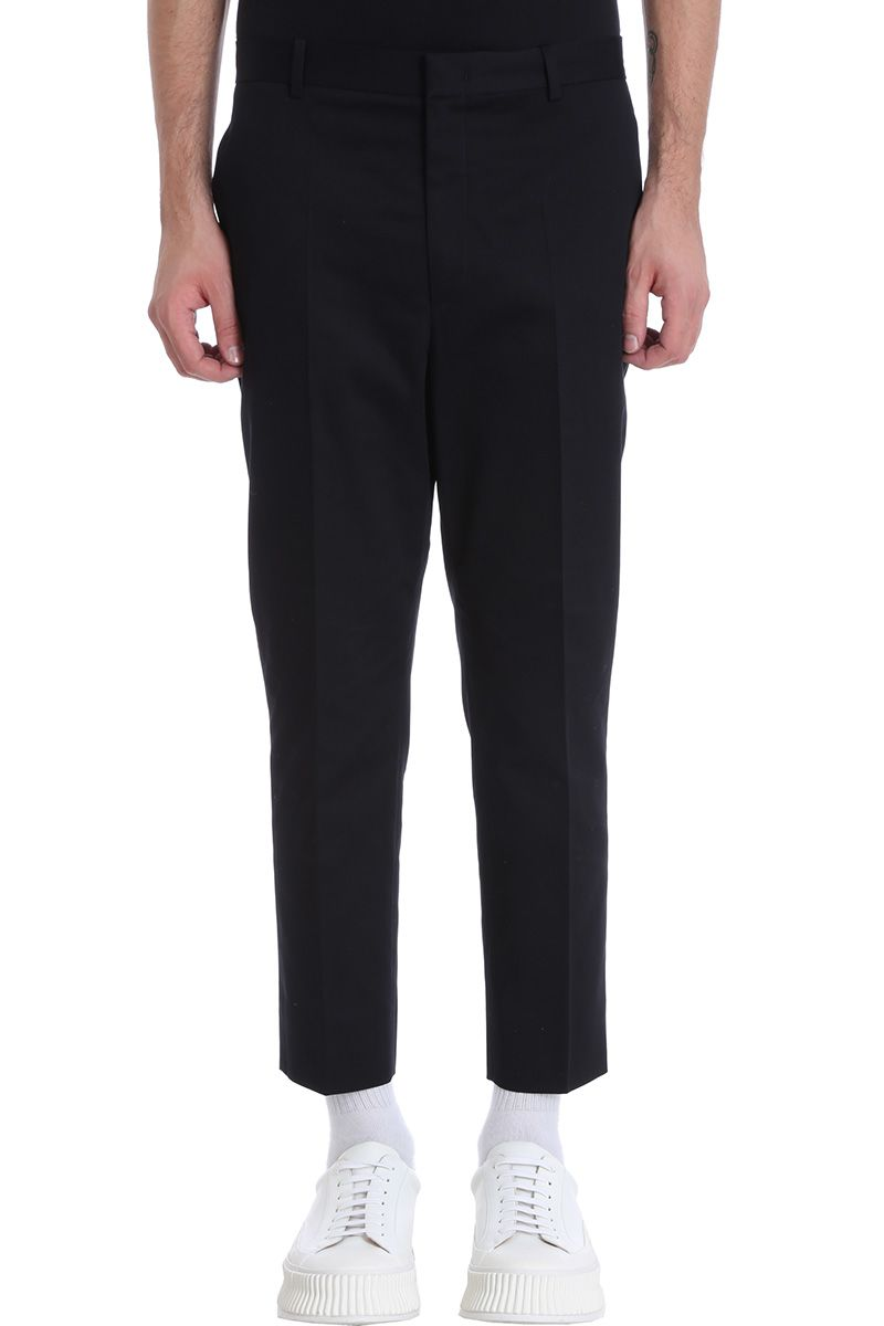 Jil Sander Blue Cotton Pants
