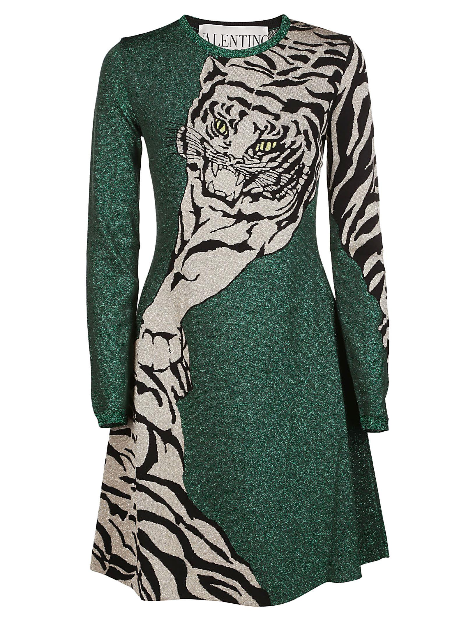 Valentino Tiger Motif Dress