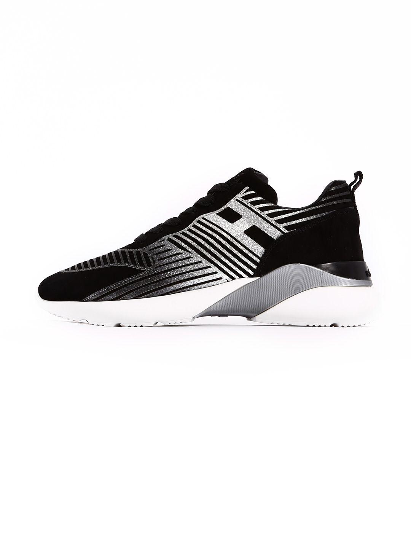 Hogan Sneaker Runner Black And Silver
