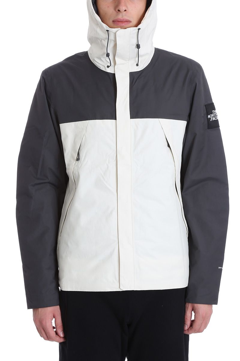 The North Face Grey/white Nylon Jacket