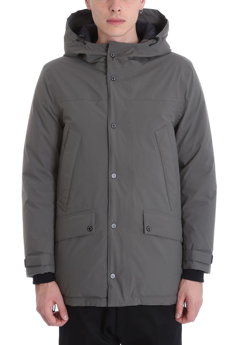 Mackintosh Gents Down Jacket In Grey Nylon
