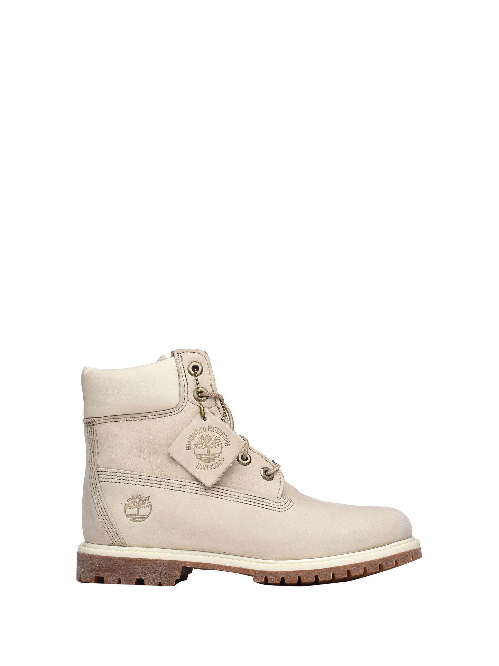 Timberland White Nabuk Ankle Boots