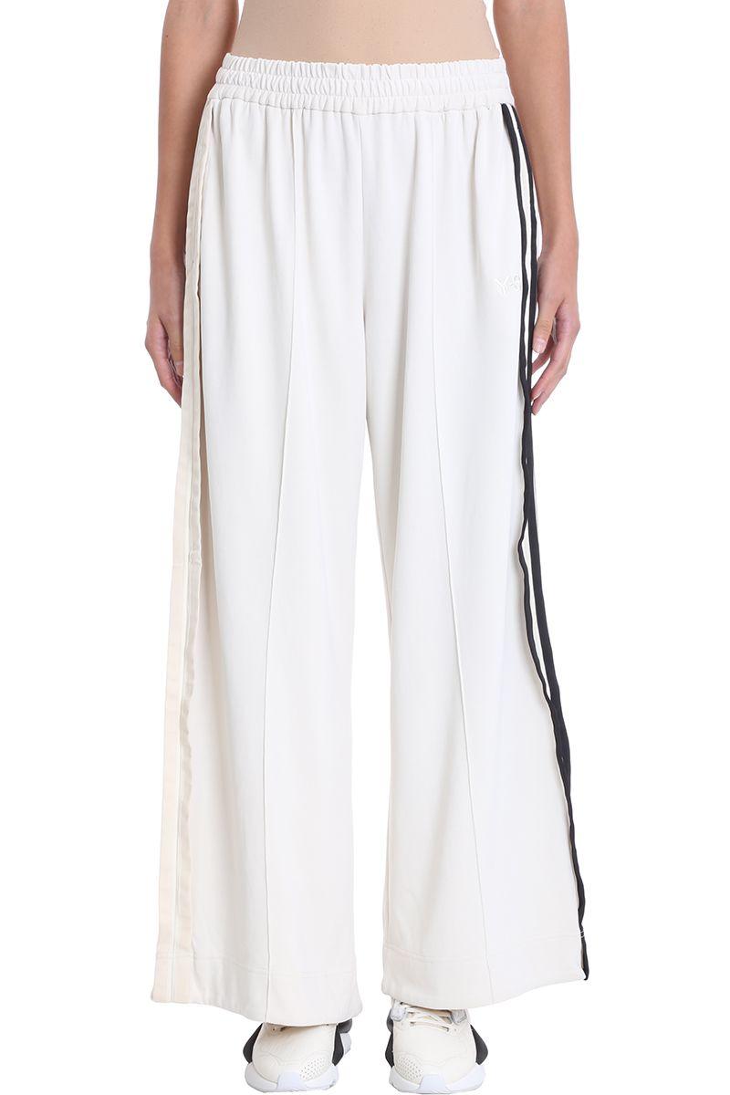 y-3 -  Milk Cotton Jersey Trousers
