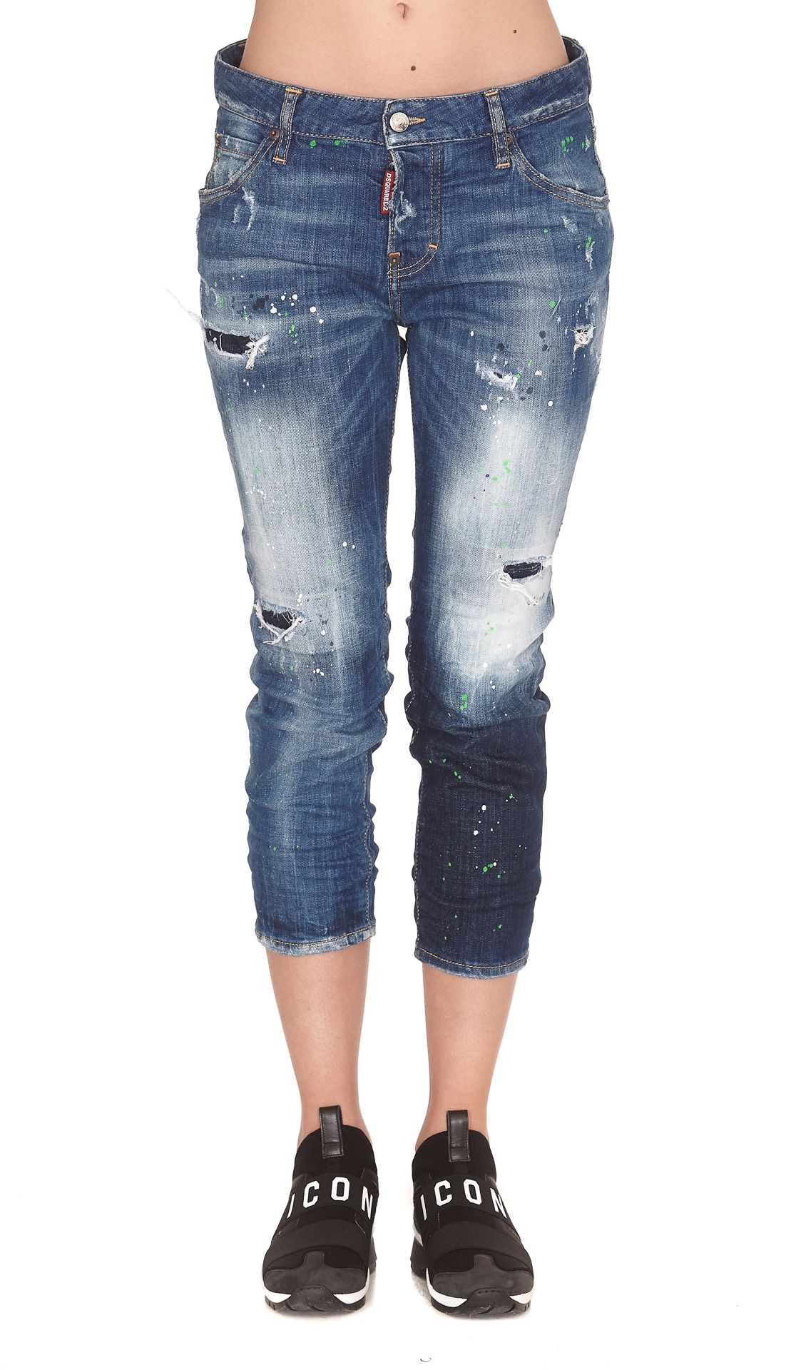 Dsquared2 Cool Girl Cropped Denim