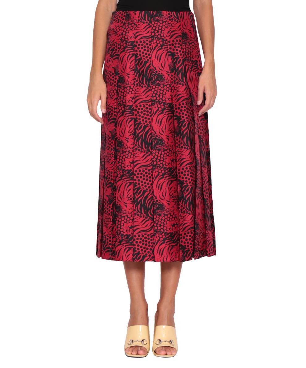 Gucci Printed Silk Skirt