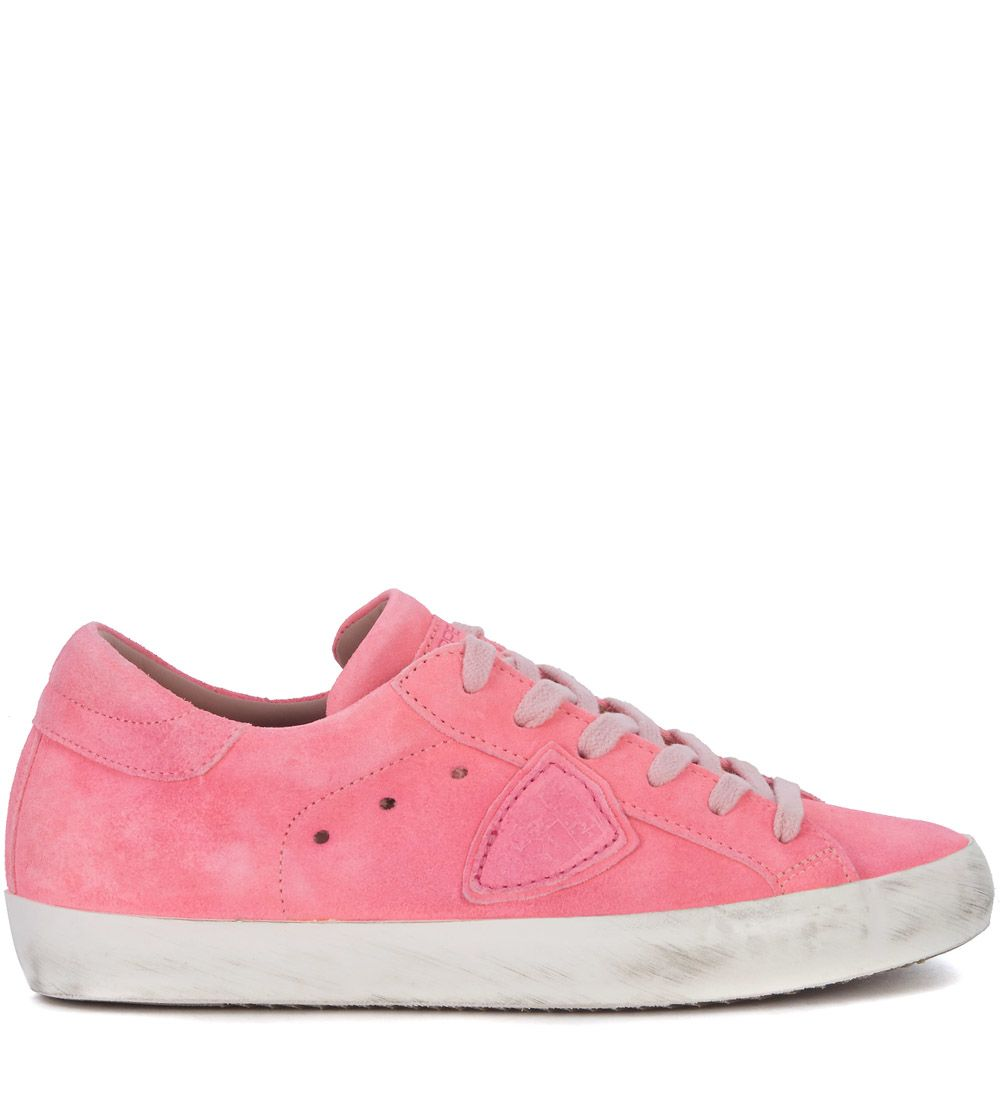Sneaker Philippe Model Paris Fluo Pink Leather Sneaker