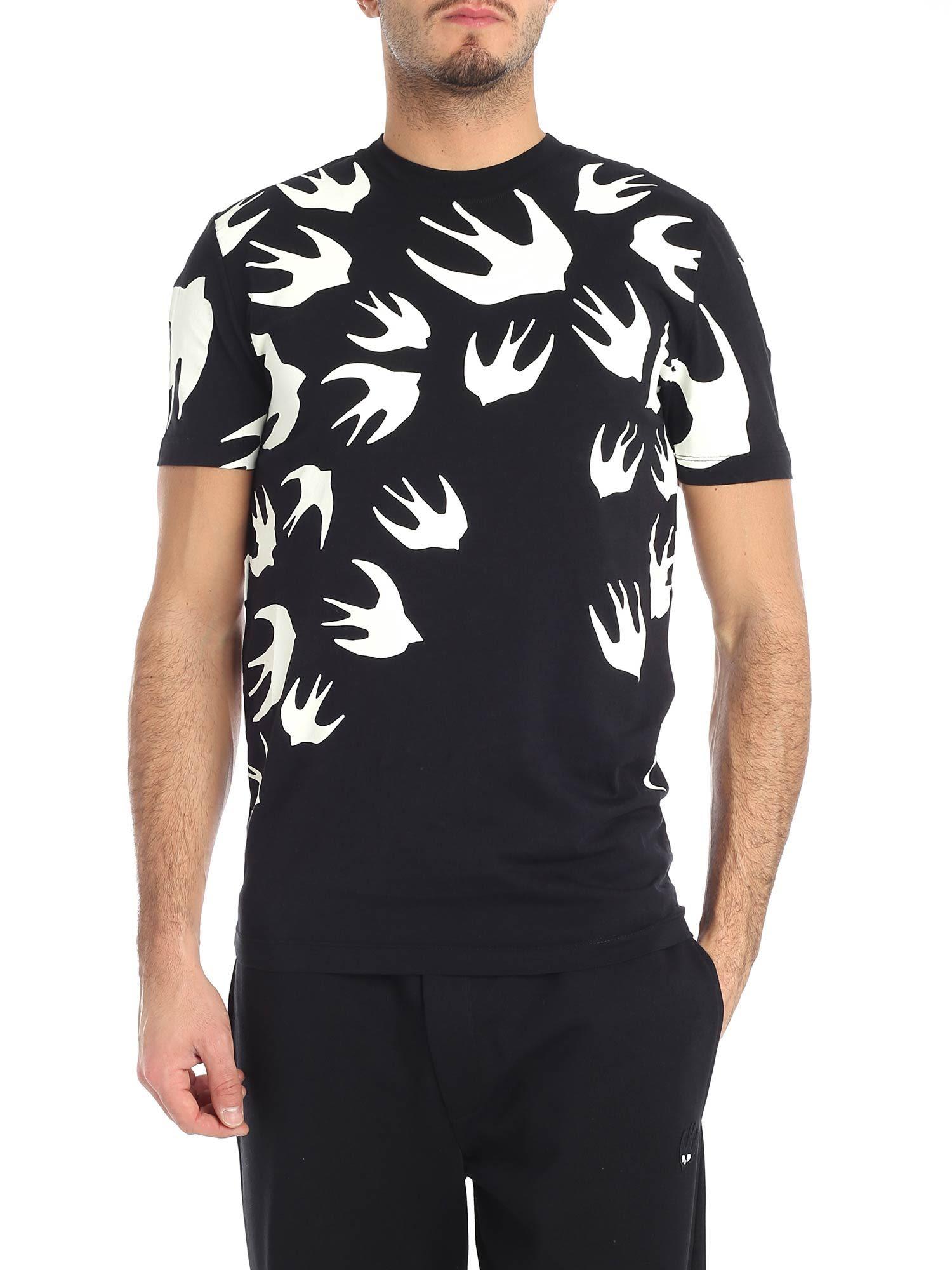 Mcq Alexander Mcqueen Bird Print T-shirt