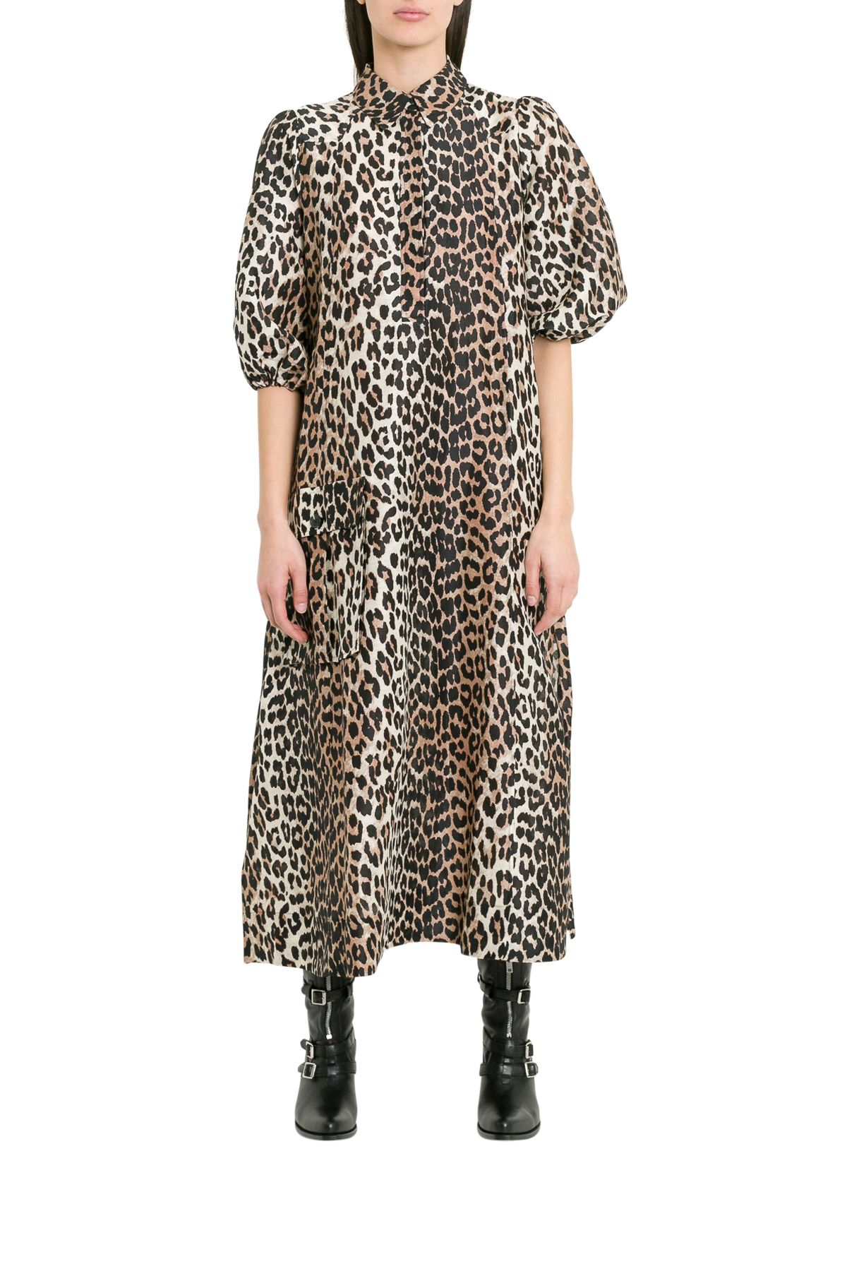 Ganni Dresses CEDAR LEOPARD DRESS