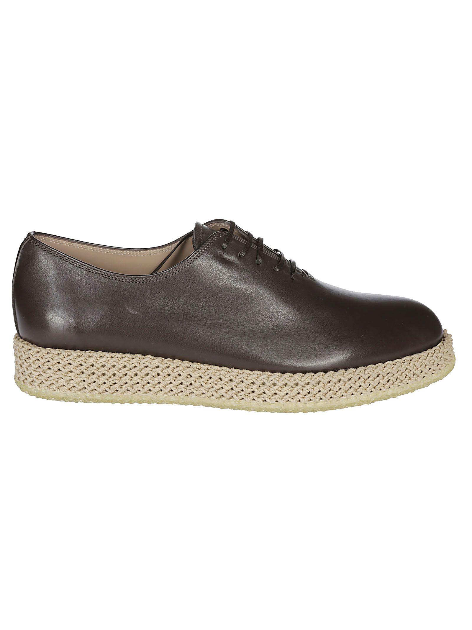 Salvatore Ferragamo Braided Detail Derby Shoes