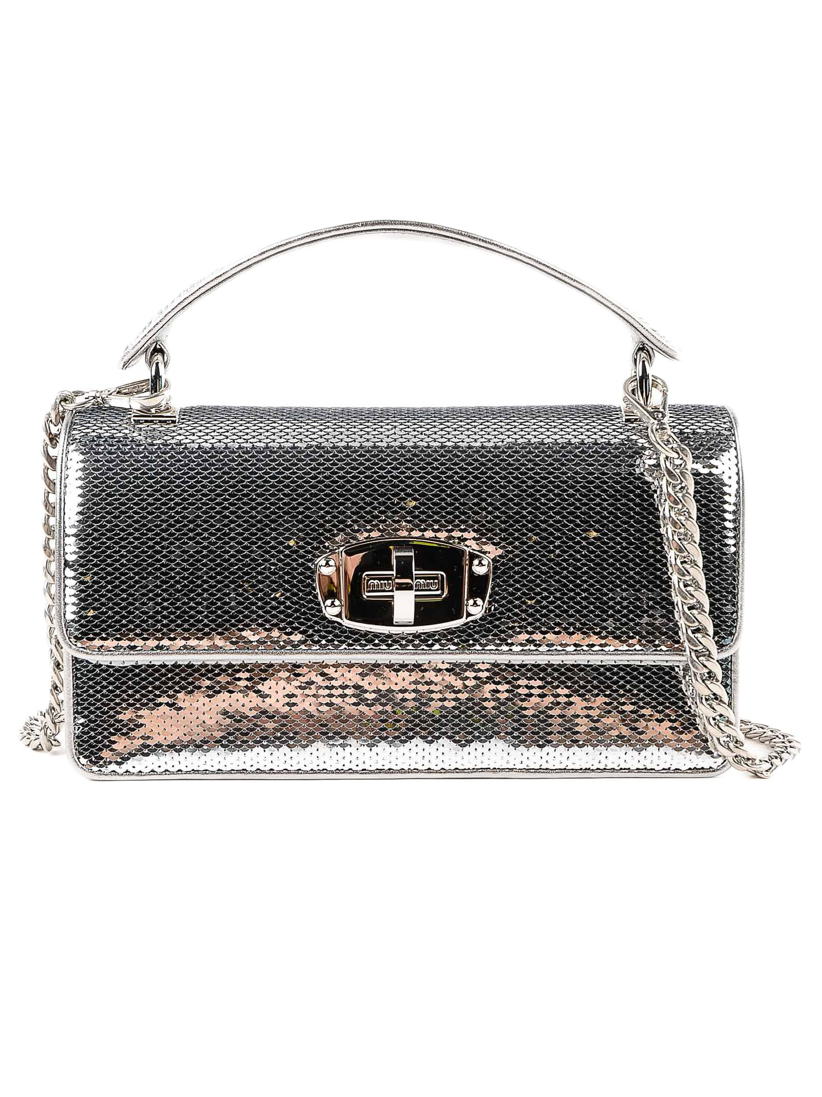 Miu Miu Sequin Scaled Mini Shoulder Bag