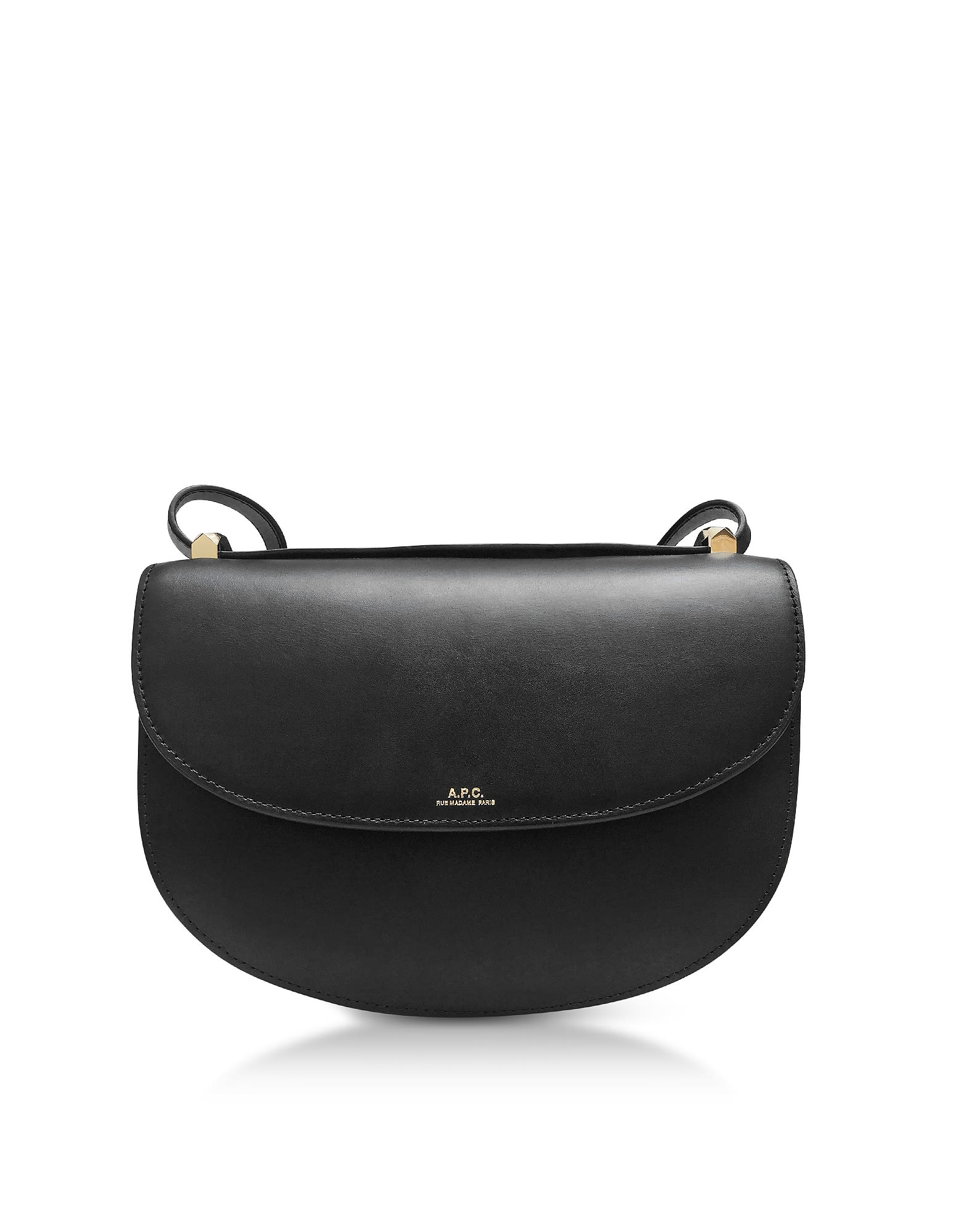 A.p.c. Black Geneve Leather Crossbody Bag