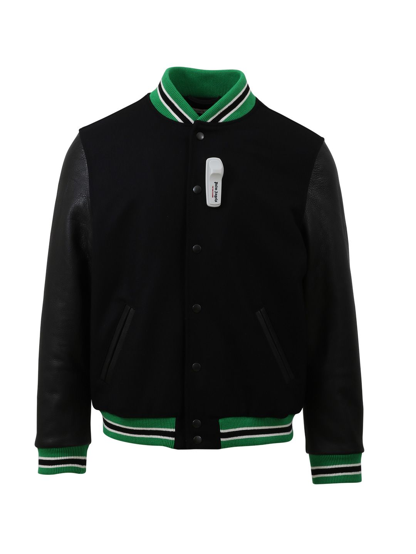 Palm Angels Black Varsity Bomber Jacket