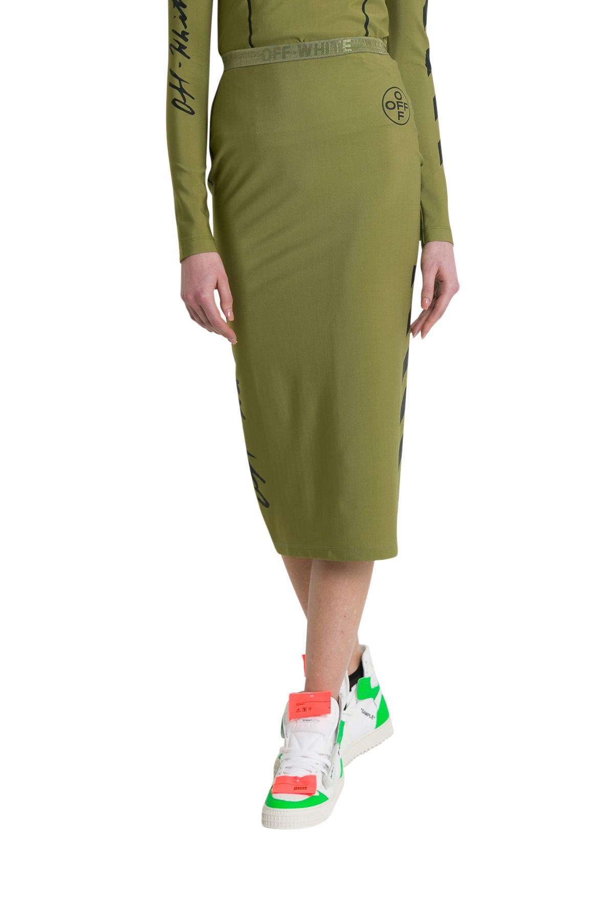 Off-White Military Diag Pencil Skirt