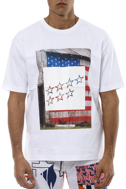 Calvin Klein Jeans White Cotton Printed T-shirt