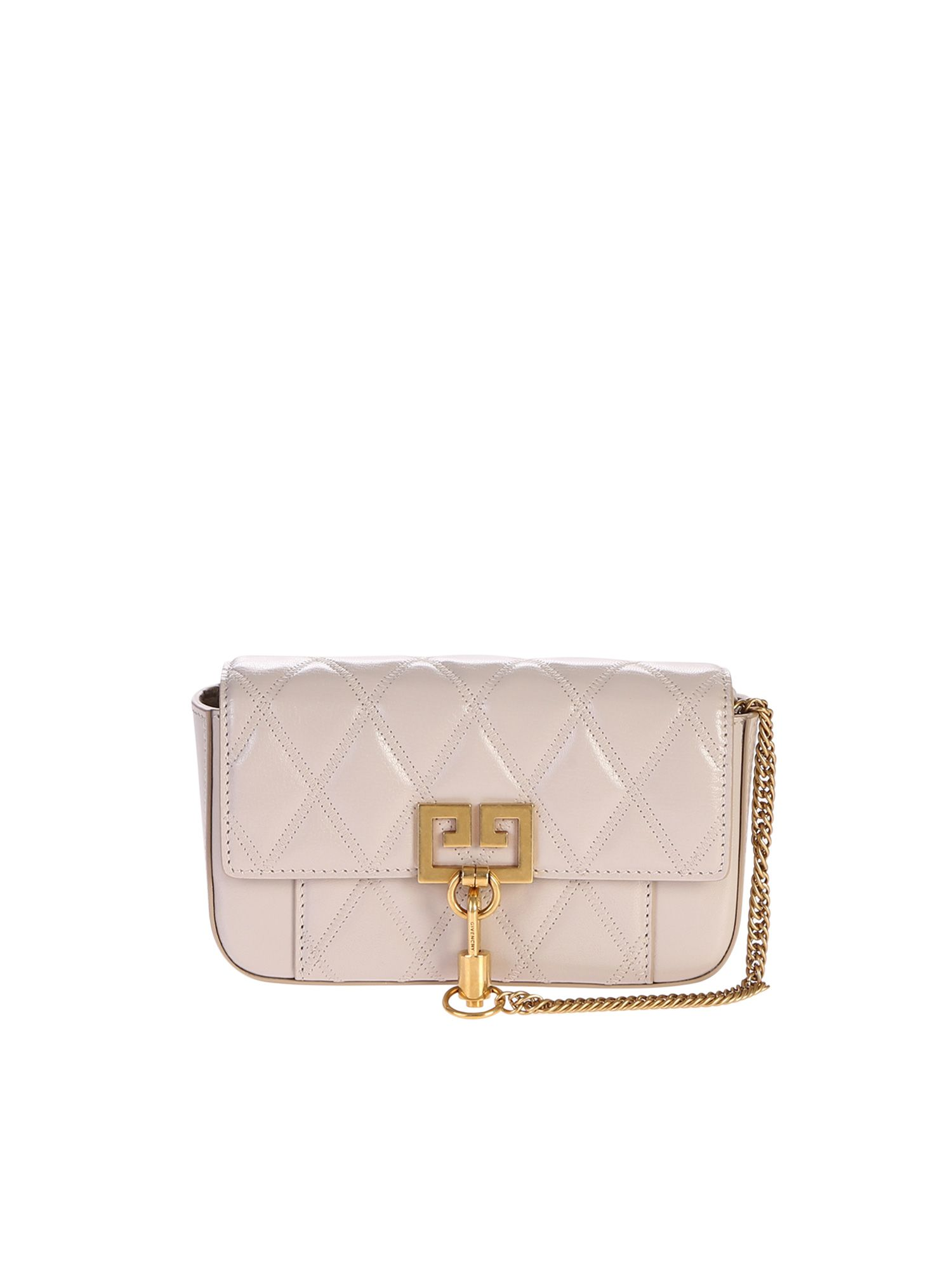 96c9b9e893 Givenchy Small Gv3 Quilted Leather Bag In Natural