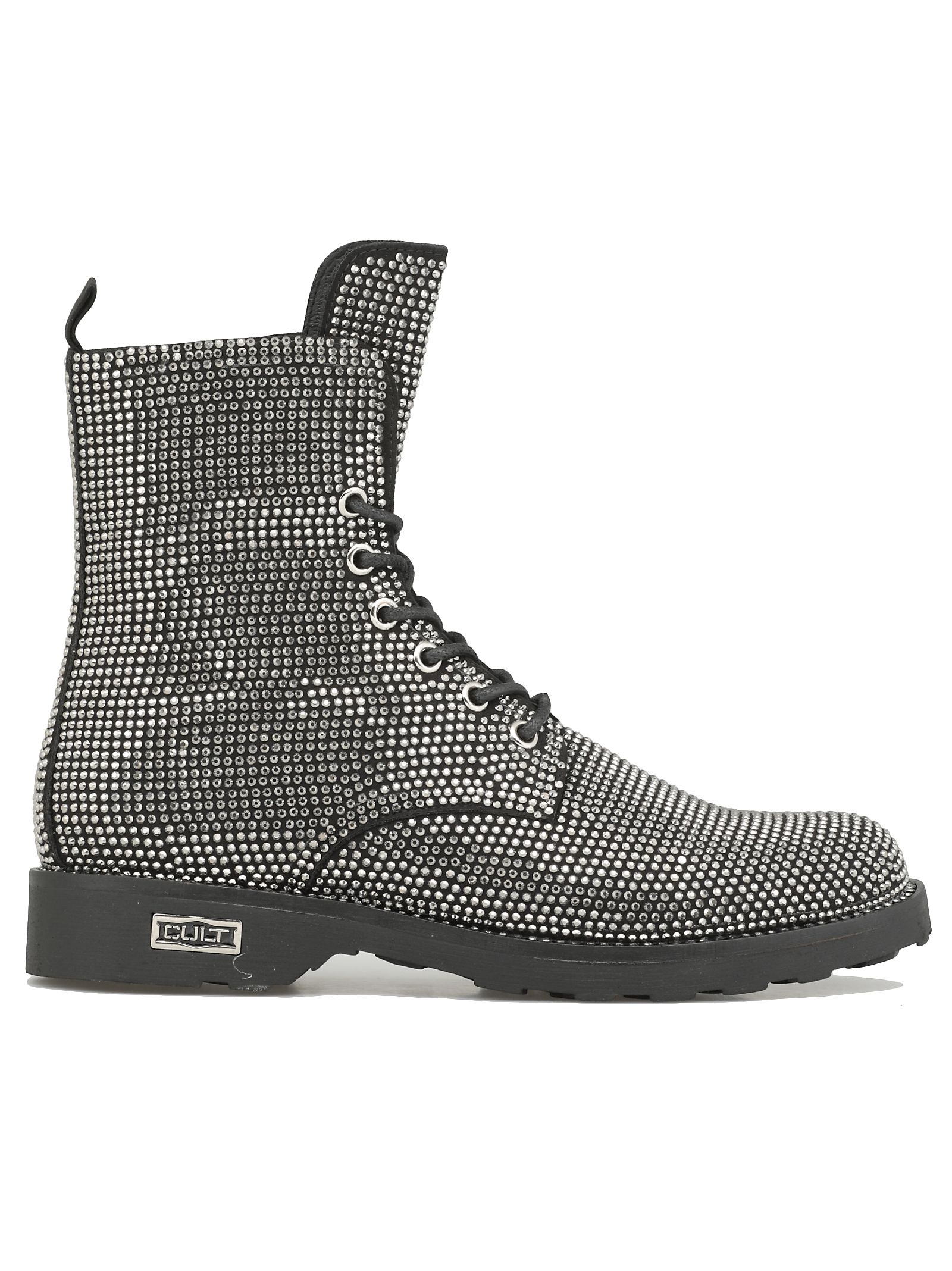 CULT Zeppelin Mid 2688 Army Boot in Silver