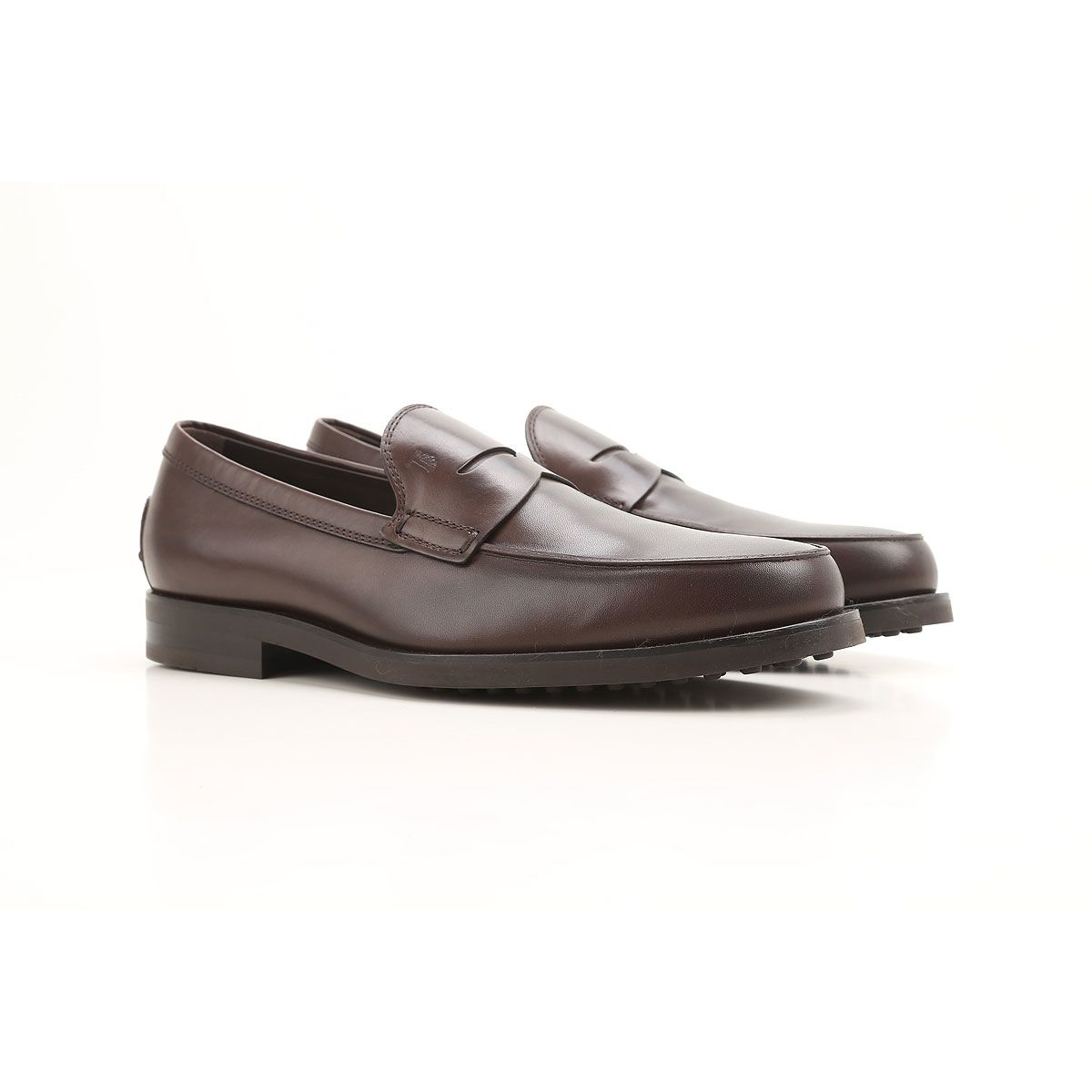 Tod's Penny Bar Detailed Leather Loafers