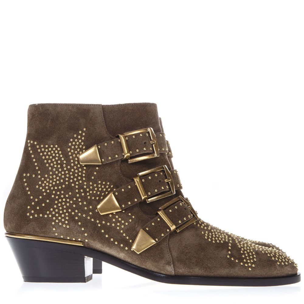 Susanna Light Brown Suede Ankle Boots