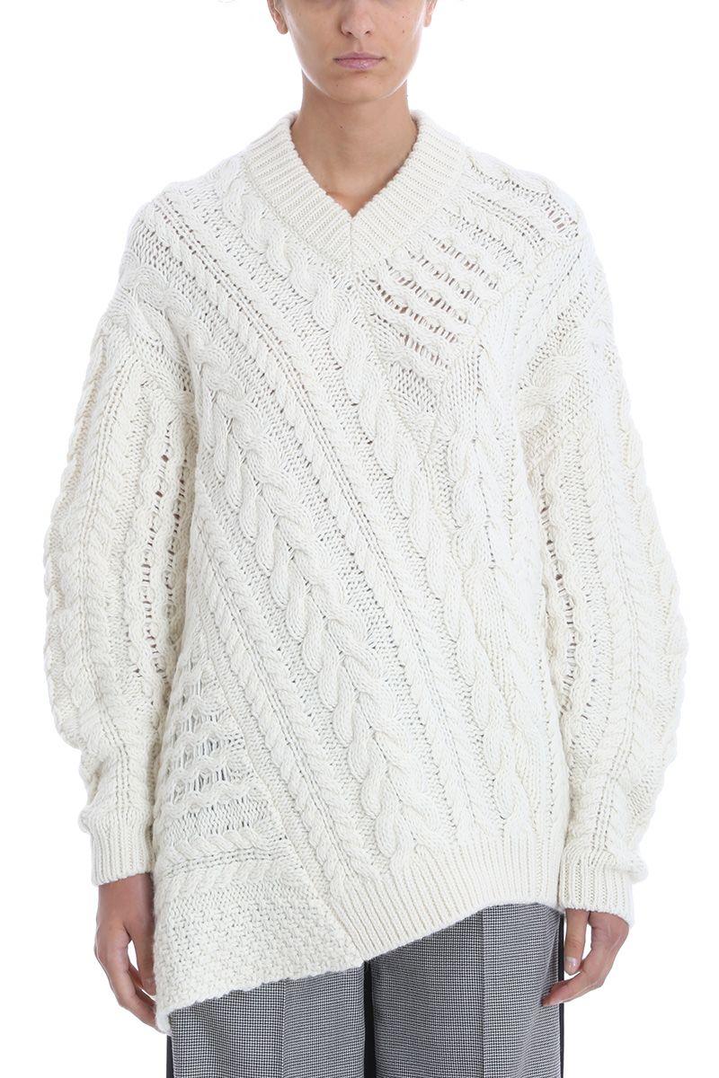 Stella McCartney Asymmetric Aran Sweater