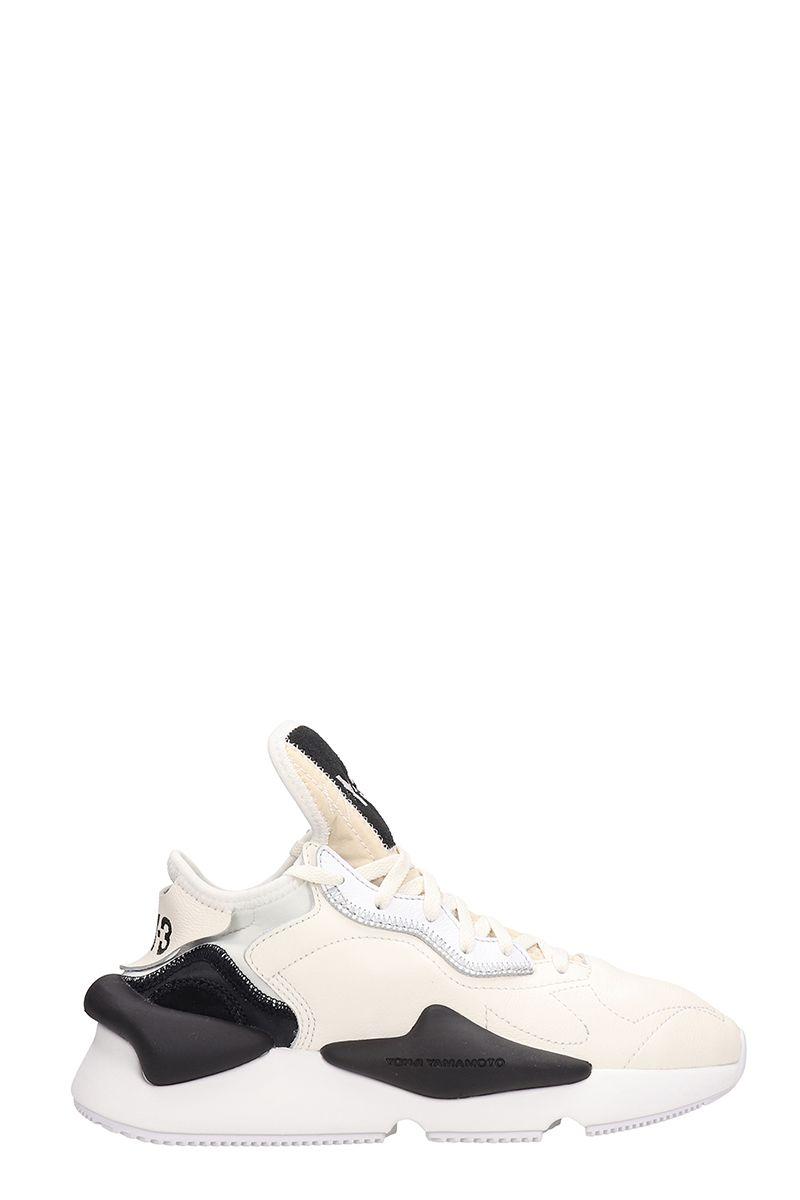 y-3 -  Kaiwa White Leather Sneakers