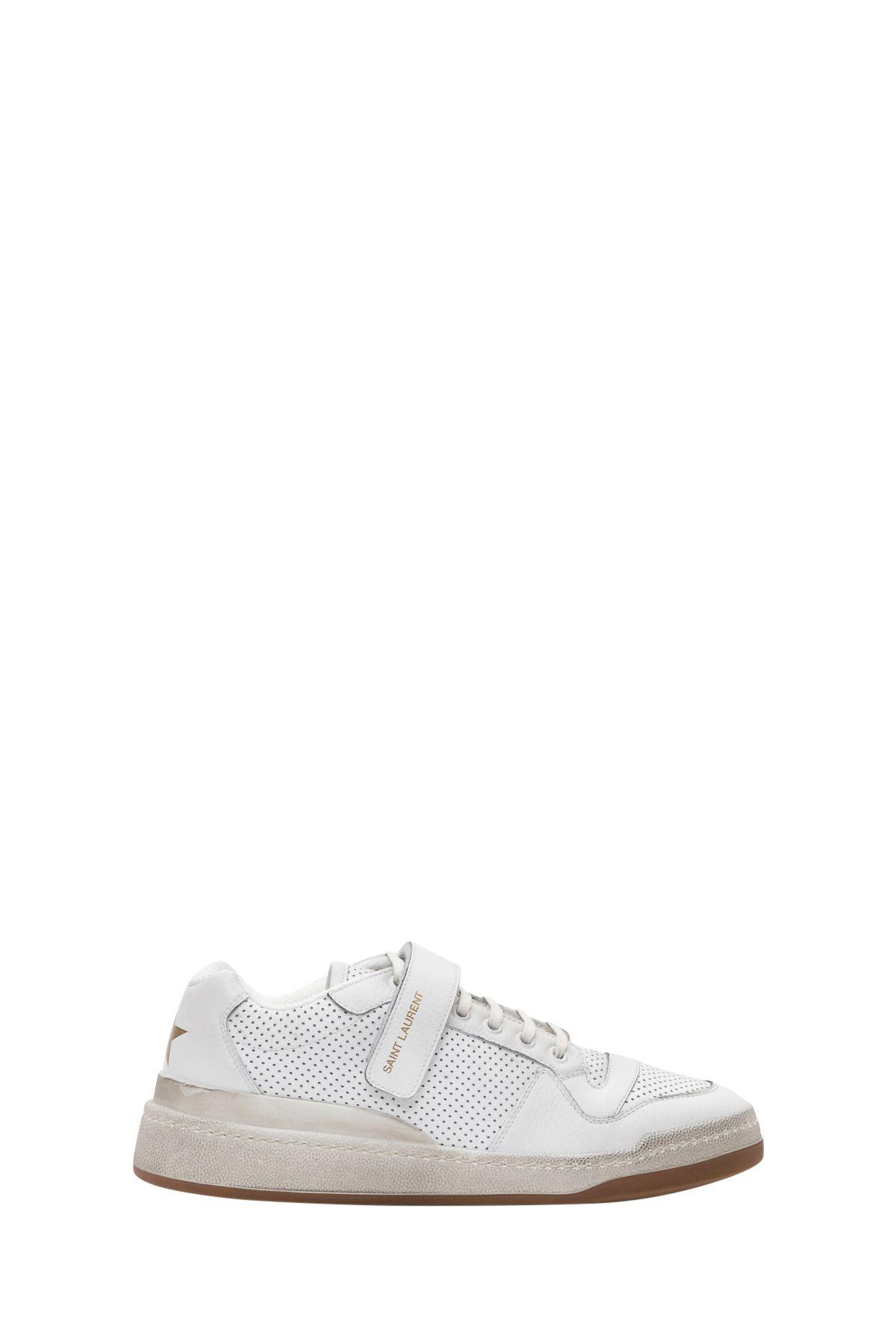 Saint Laurent Travis Sneaker In Used Look Leather