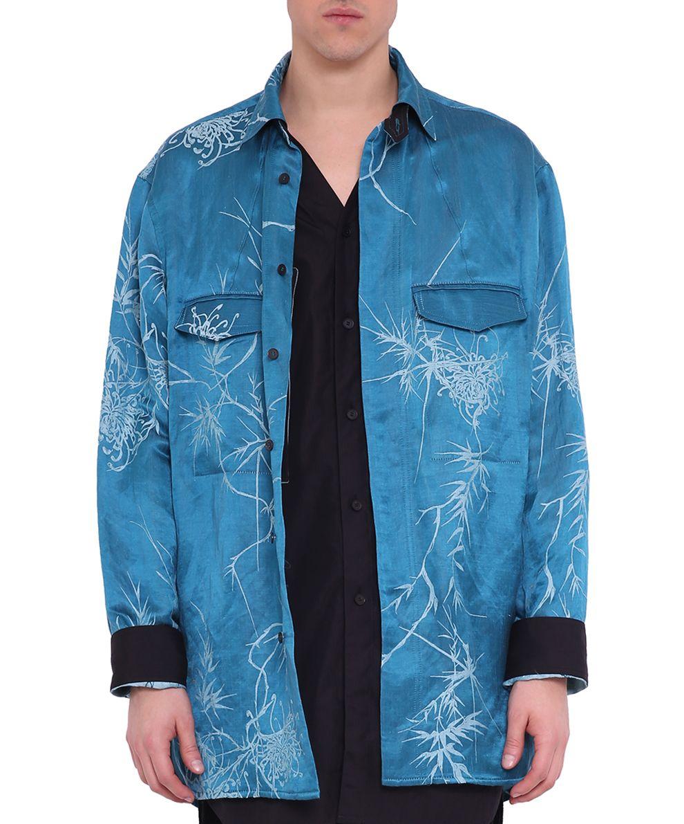 Haider Ackermann Dianthus Blue Double Shirt