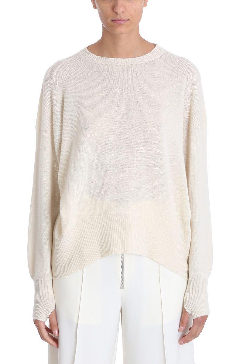 Maison Flaneur White Cashmere Sweater