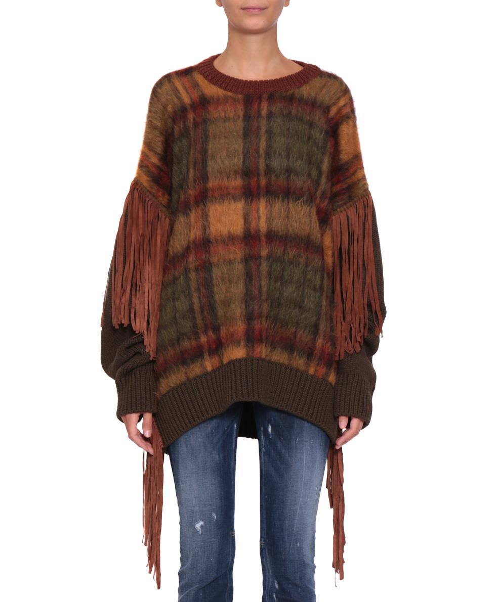Dsquared2 Fringed Wool Sweater