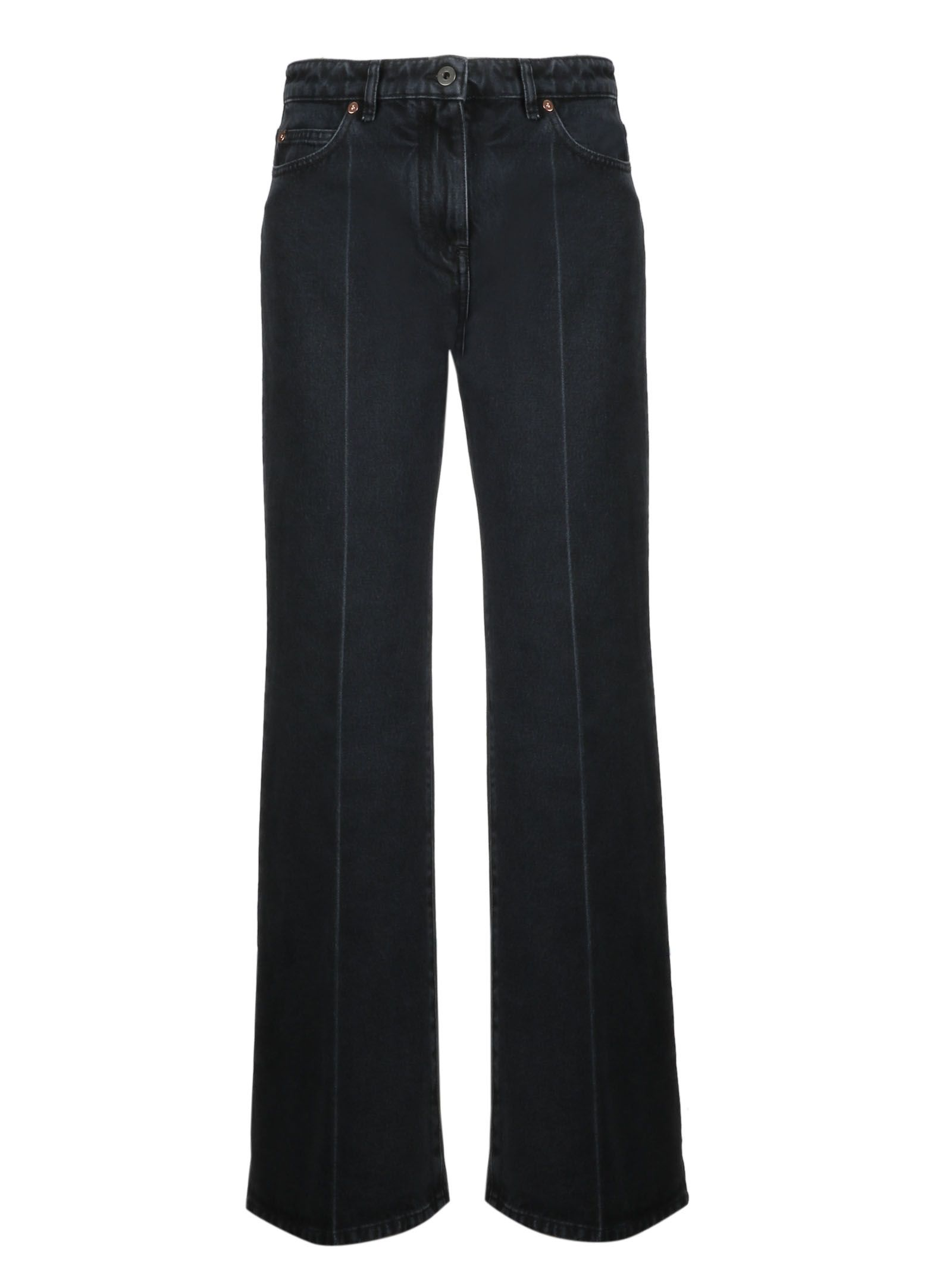 Valentino Contrast Flared Jeans
