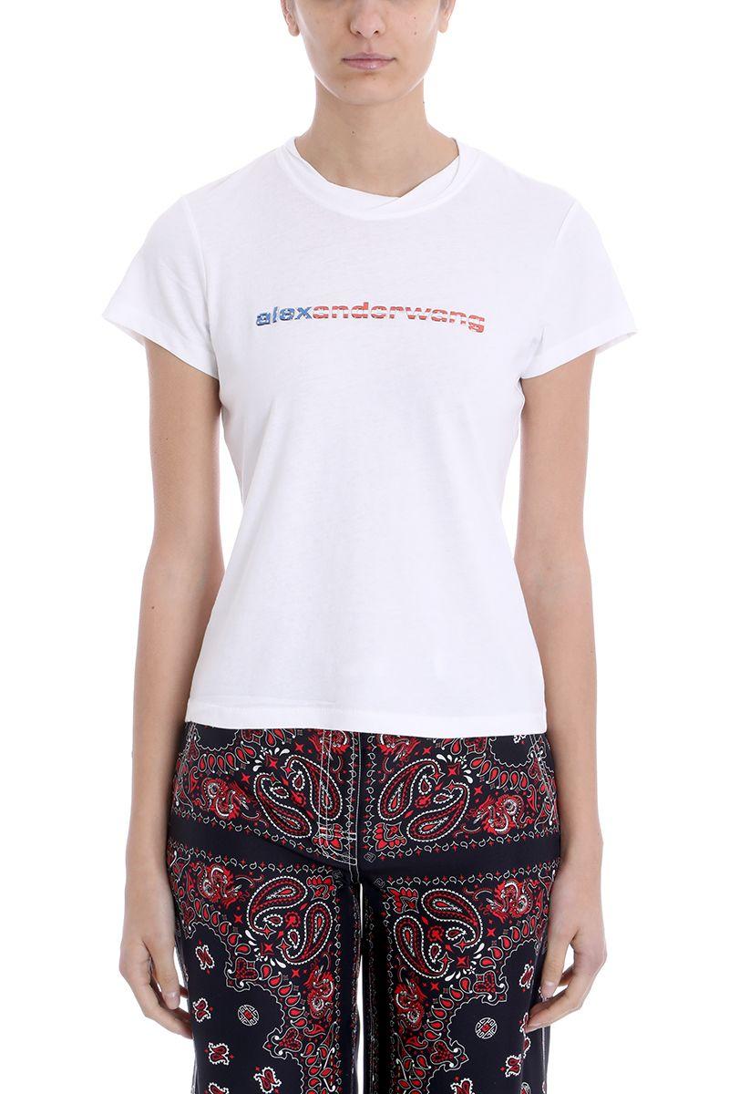 Alexander Wang White Cotton T-shirt