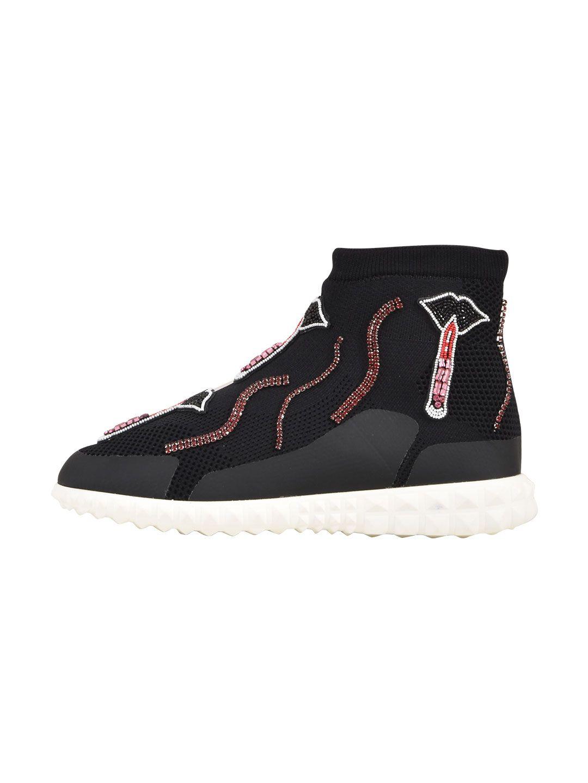 Valentino Garavani Knit High-top Sneaker