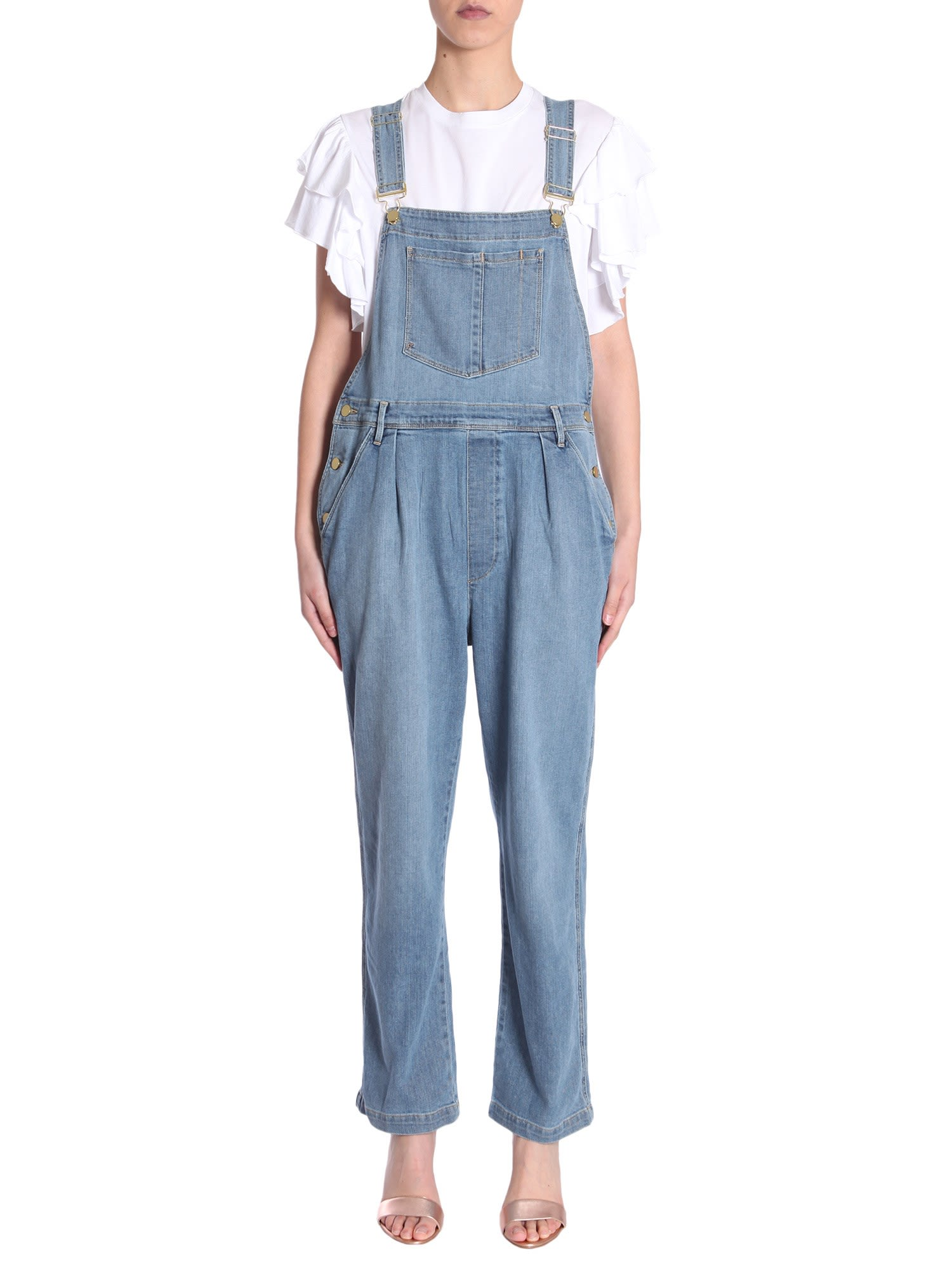 frame -  Le Baggy Dungaree Overrall