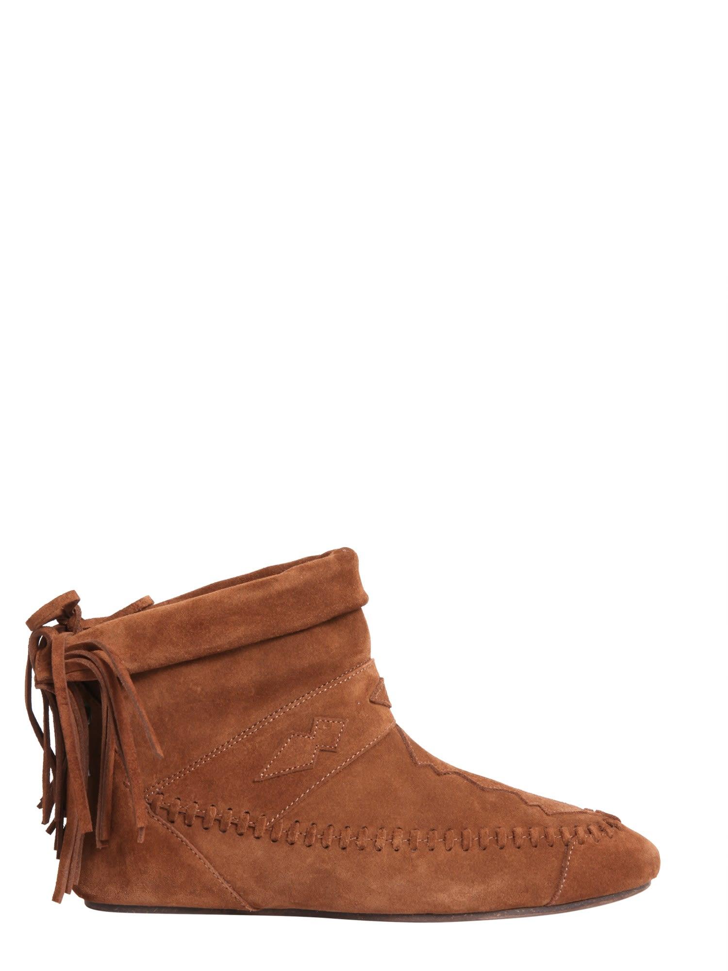 Saint Laurent Nino Fringed Boots