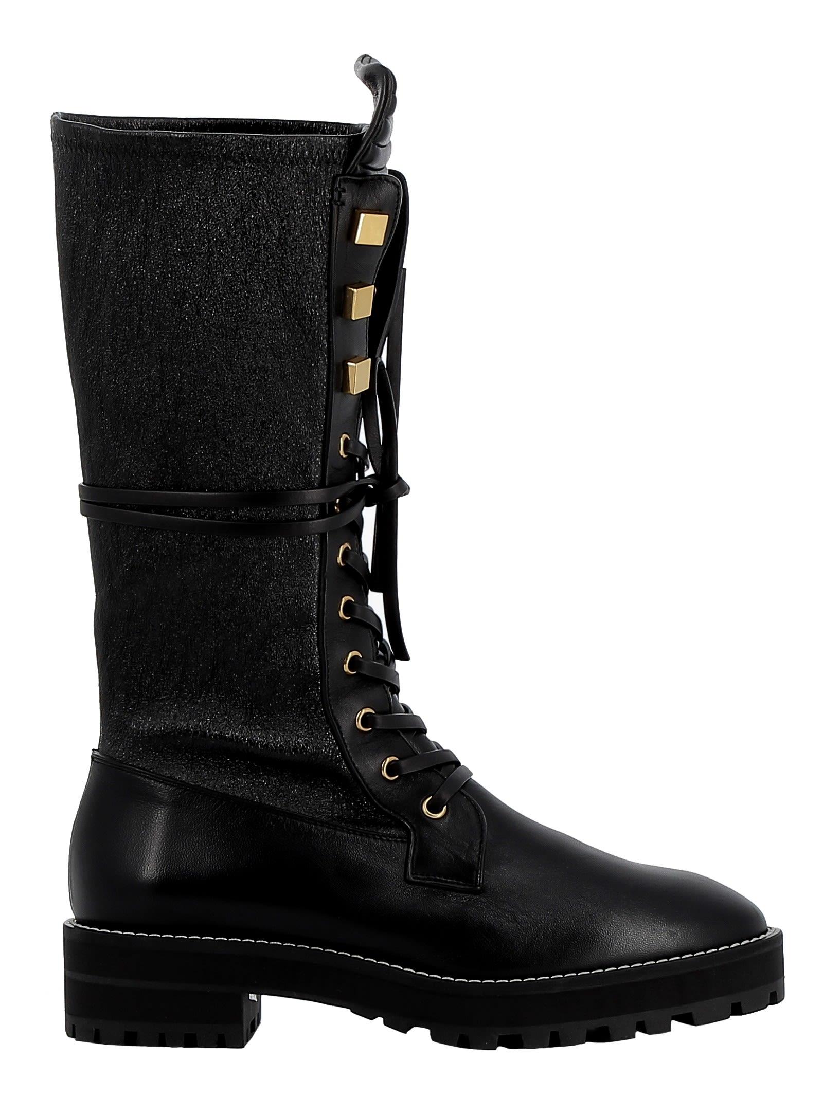 stuart weitzman -  Black Leather Boots
