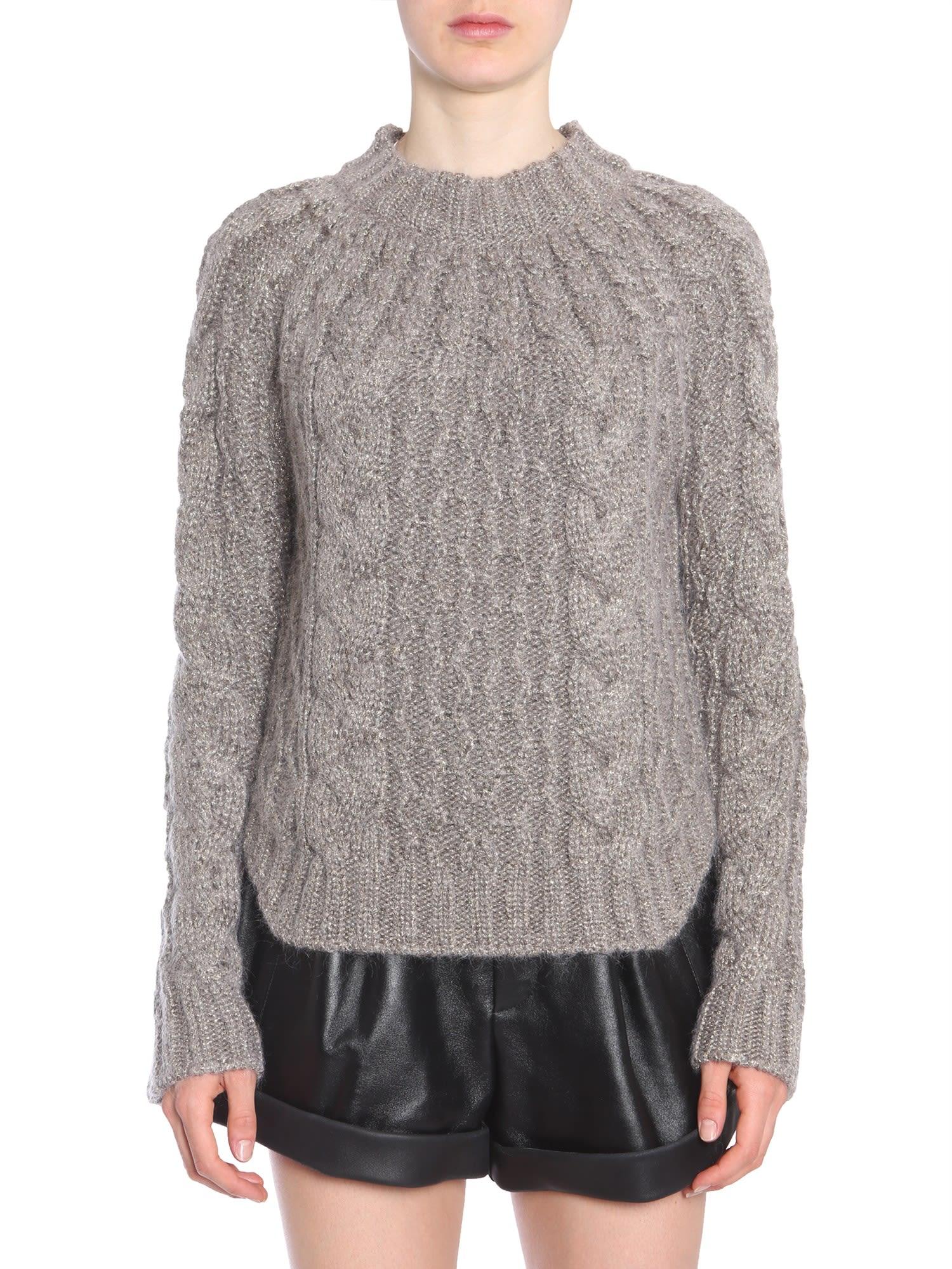 Saint Laurent Round Collar Sweater