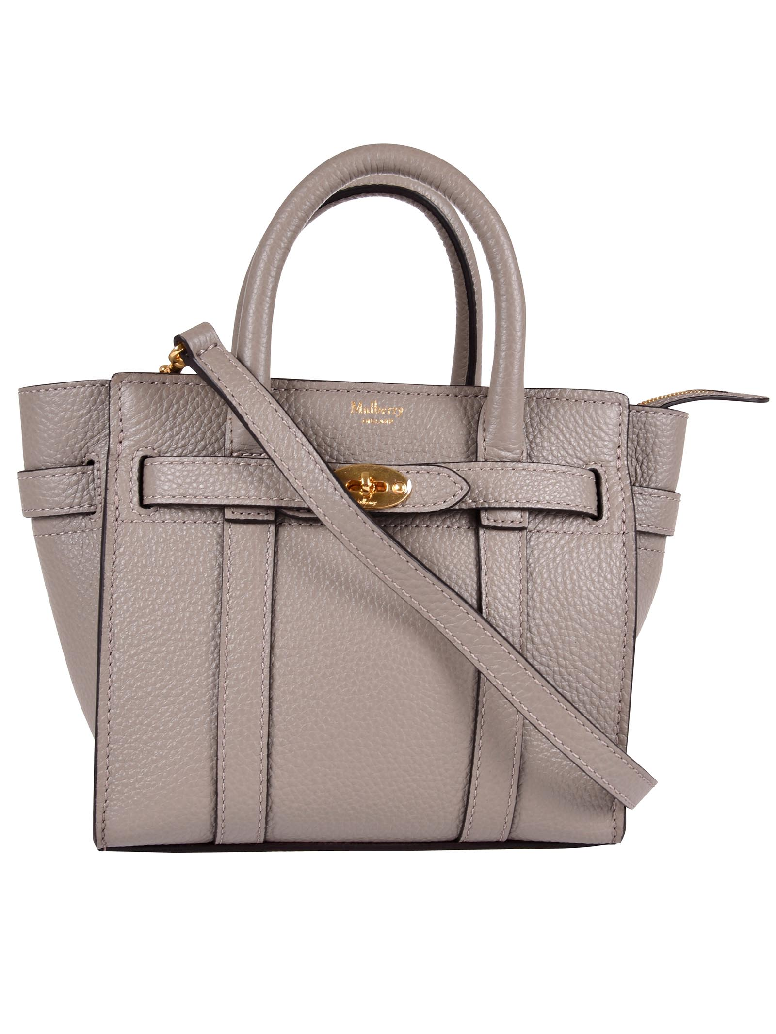 Mulberry Micro Zipped Bayswater Tote In Dsolid Grey  7f43b657e7f52