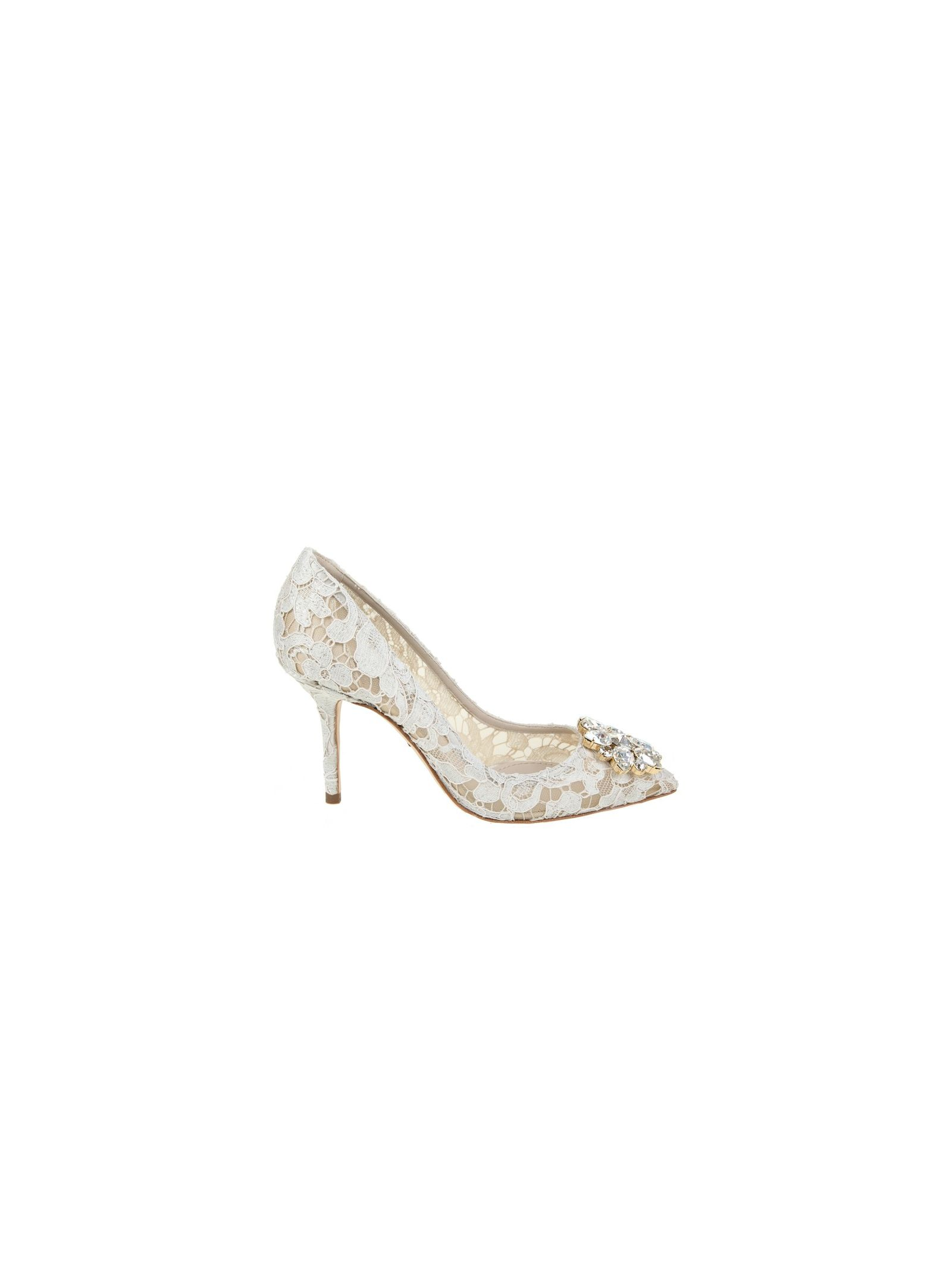 Dolce & Gabbana Decolletè Bellucci Ice Lace With Application In Crystals