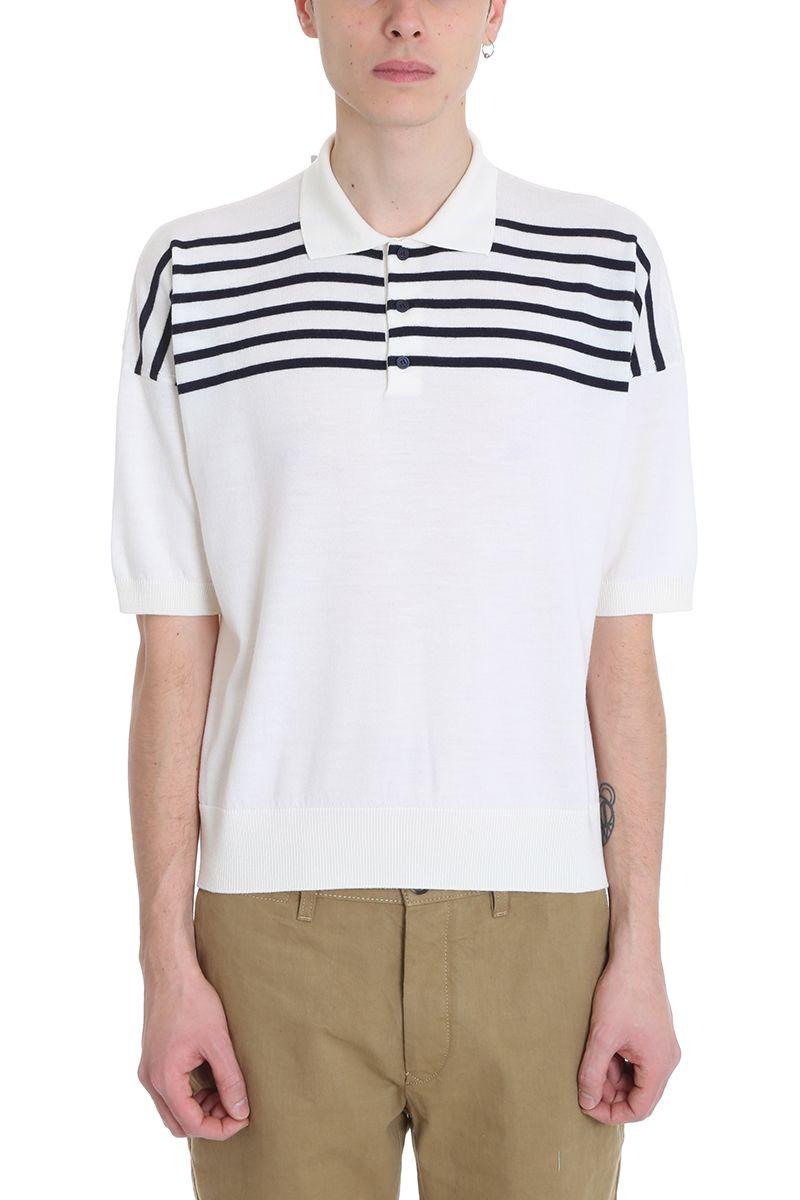 Loewe White Wool Polo