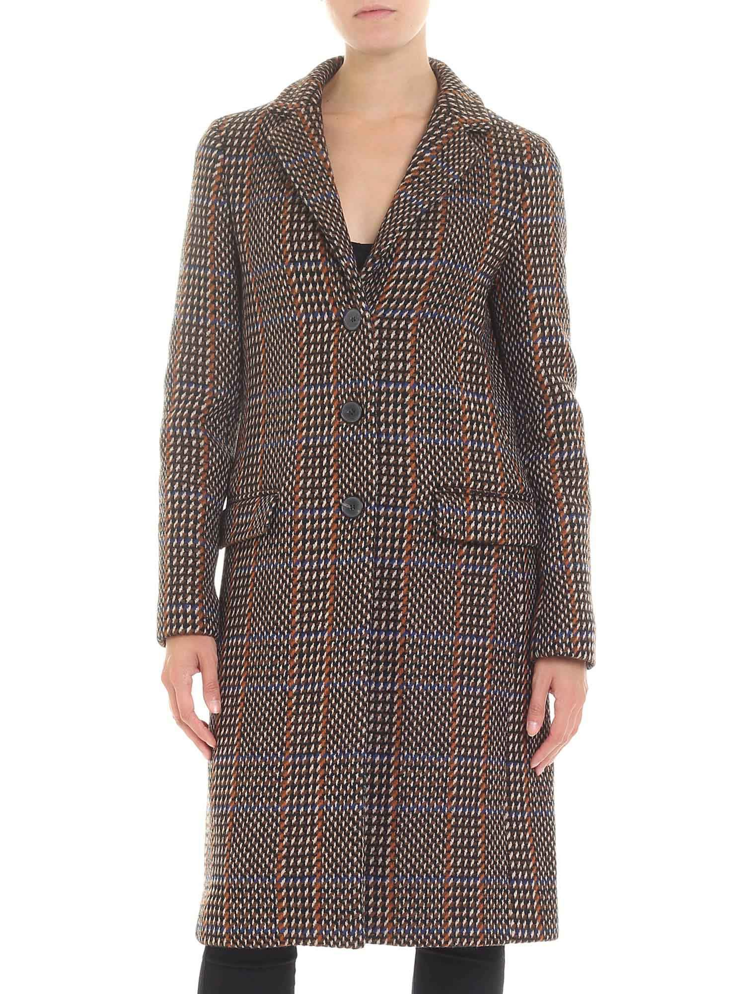 Etro Check Wool Coat