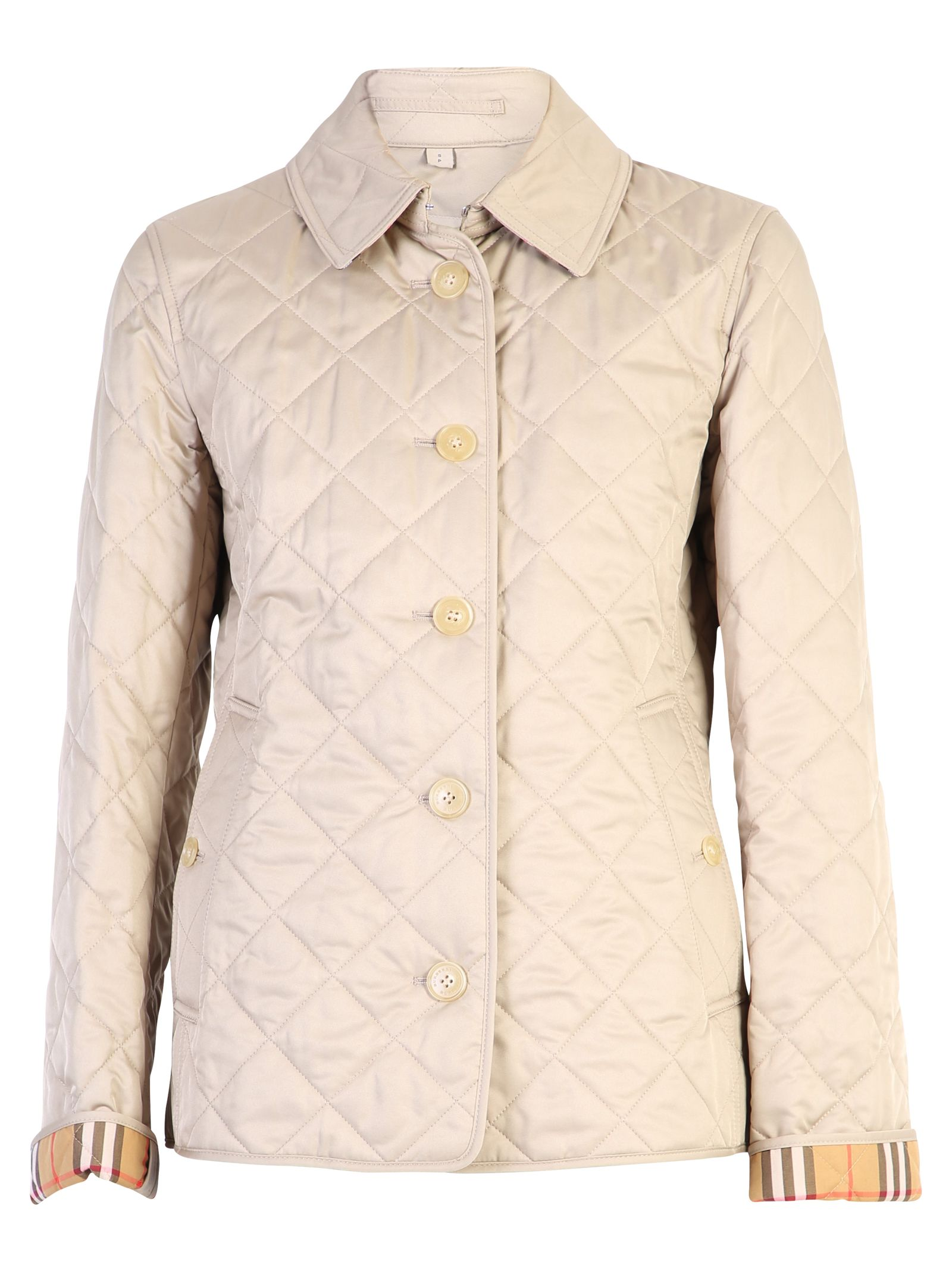 Burberry Beige Frankie Quilted Jacket