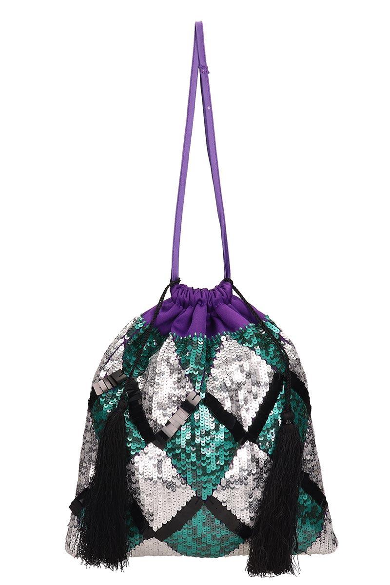 ATTICO Sequin-embellished Tote Bag