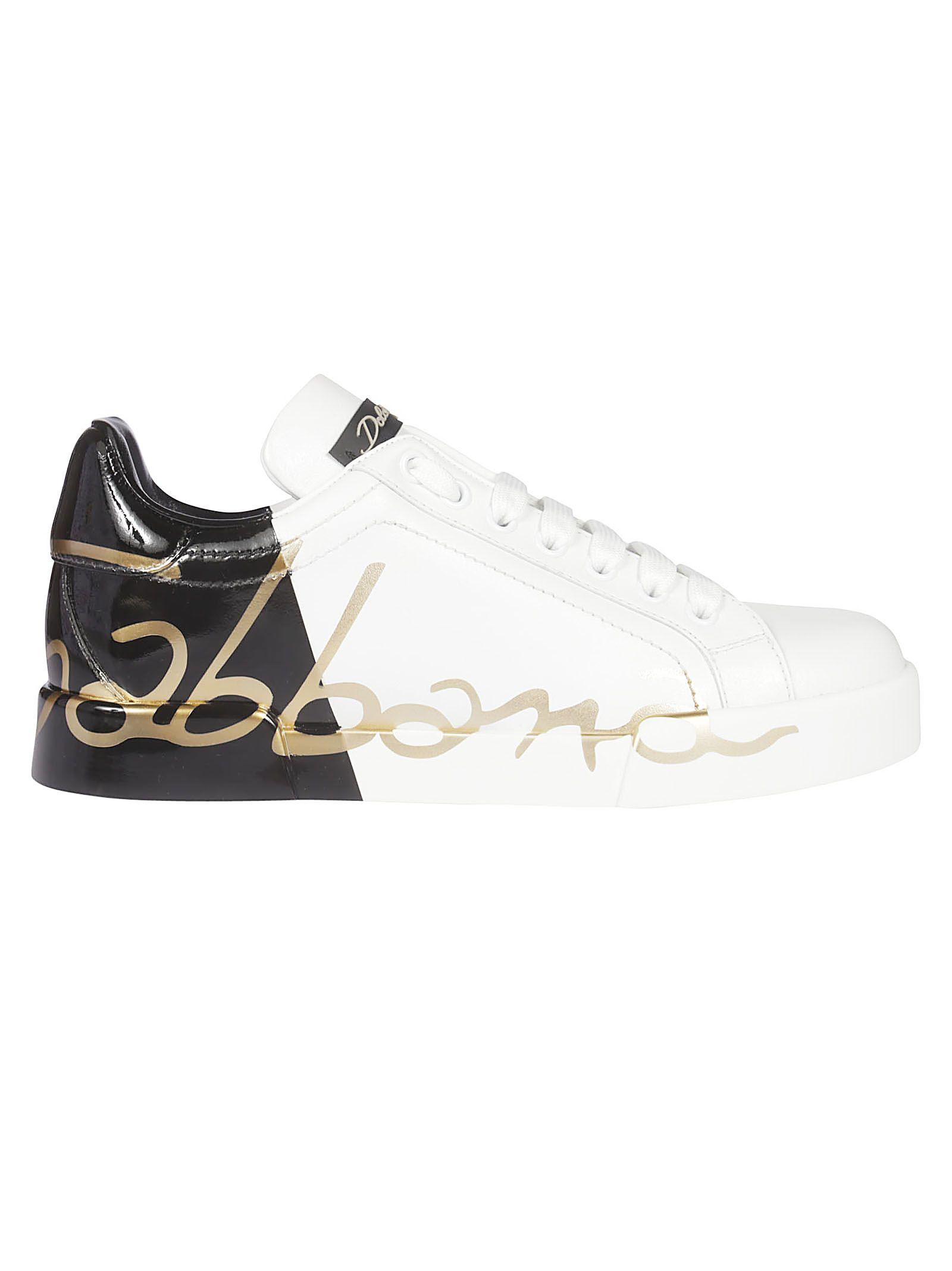 dolce & gabbana -  Printed Low-cut Sneakers