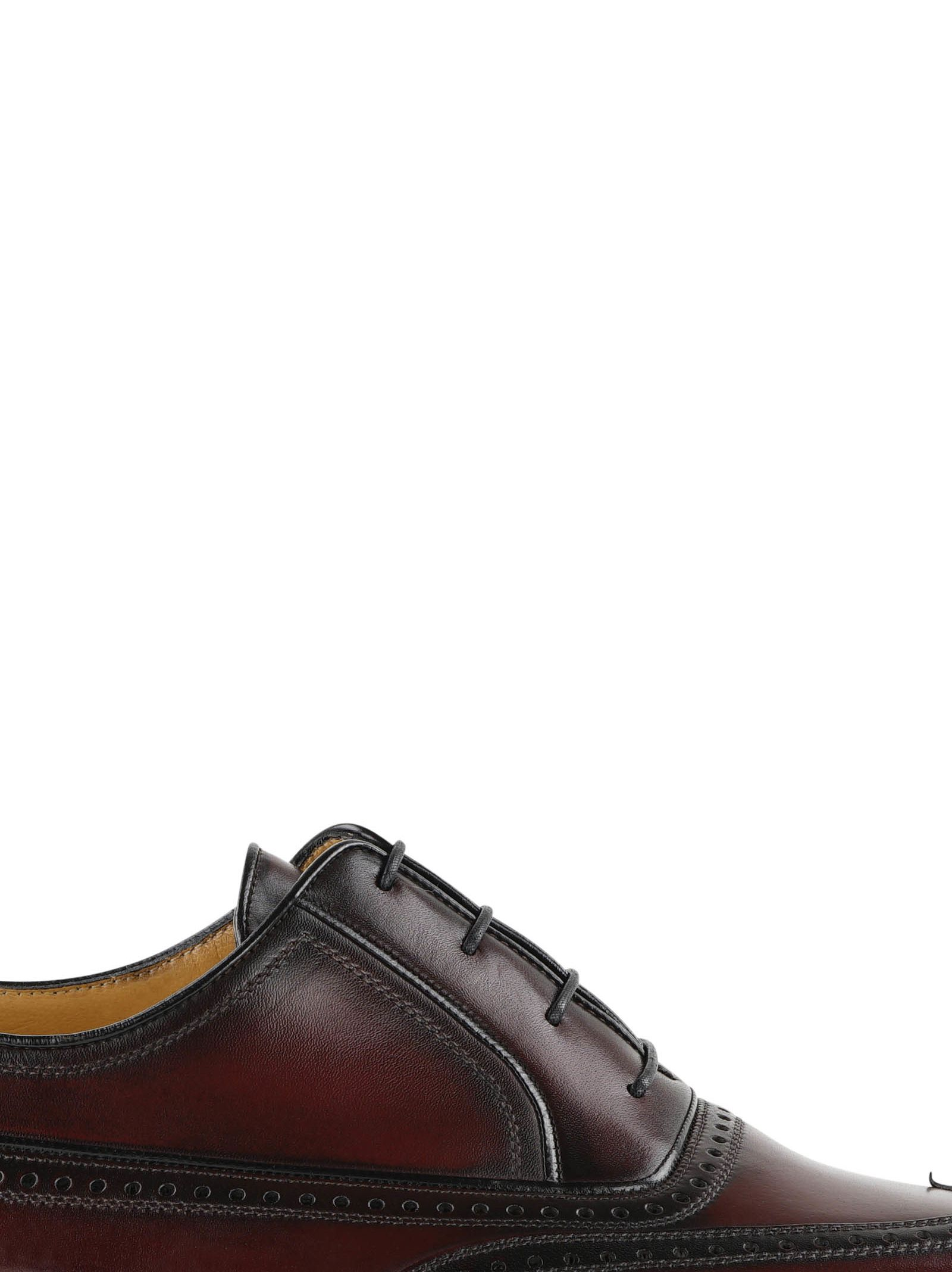 A.testoni Brogue Detail Oxford Shoes