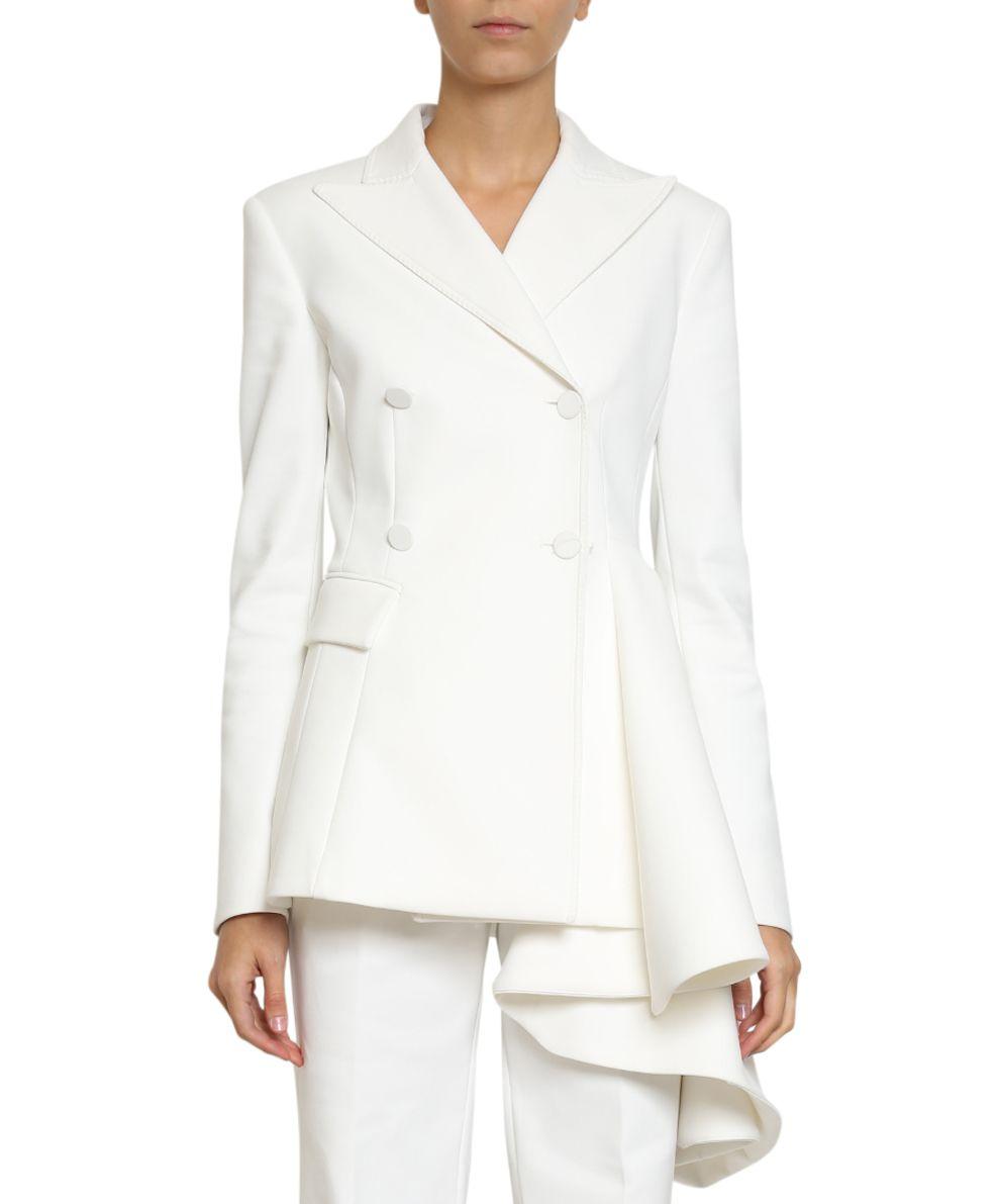 off-white -  Volant Detail Wool Blazet