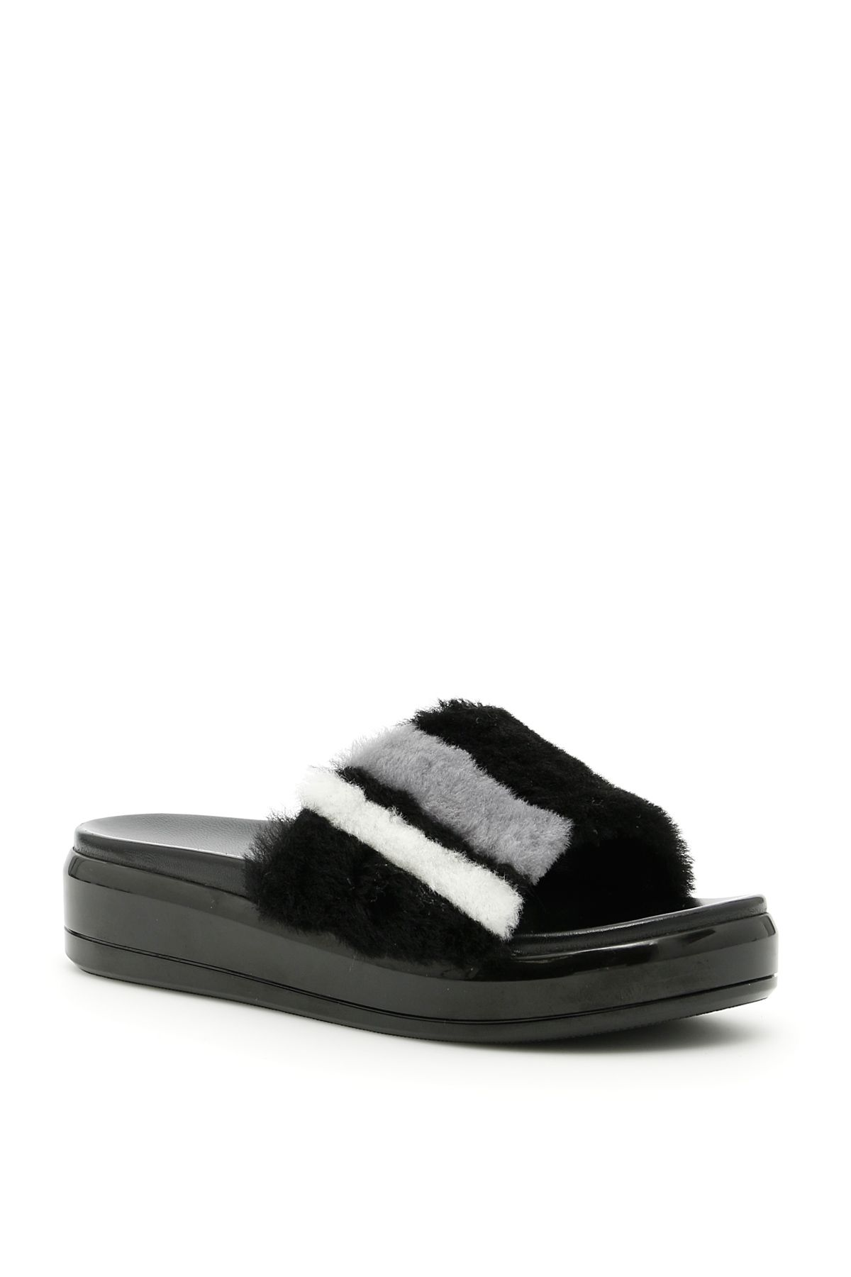 Prada Linea Rossa Sheepskin Sandals