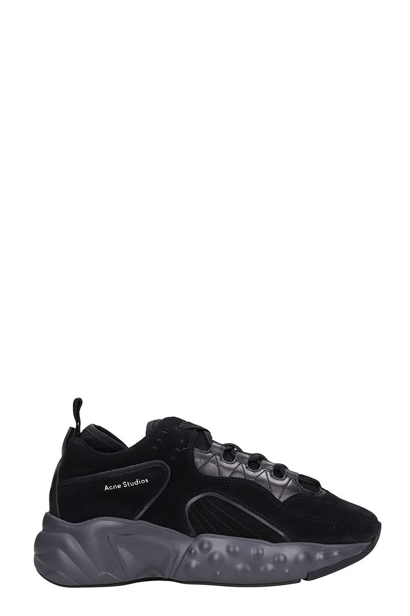 Acne Studios Rockaway Black Suede Sneakers