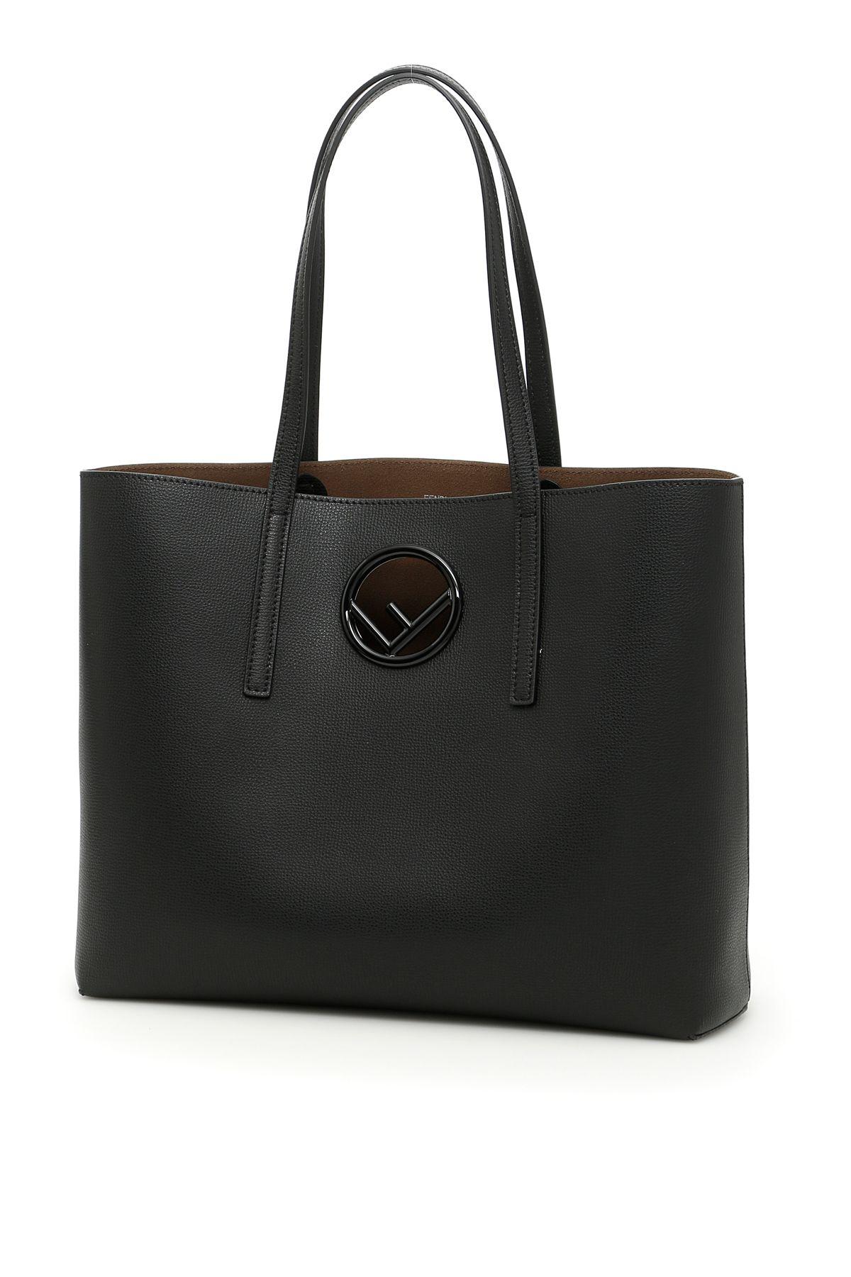 Fendi Vienna Calfskin Logo Shopping Bag