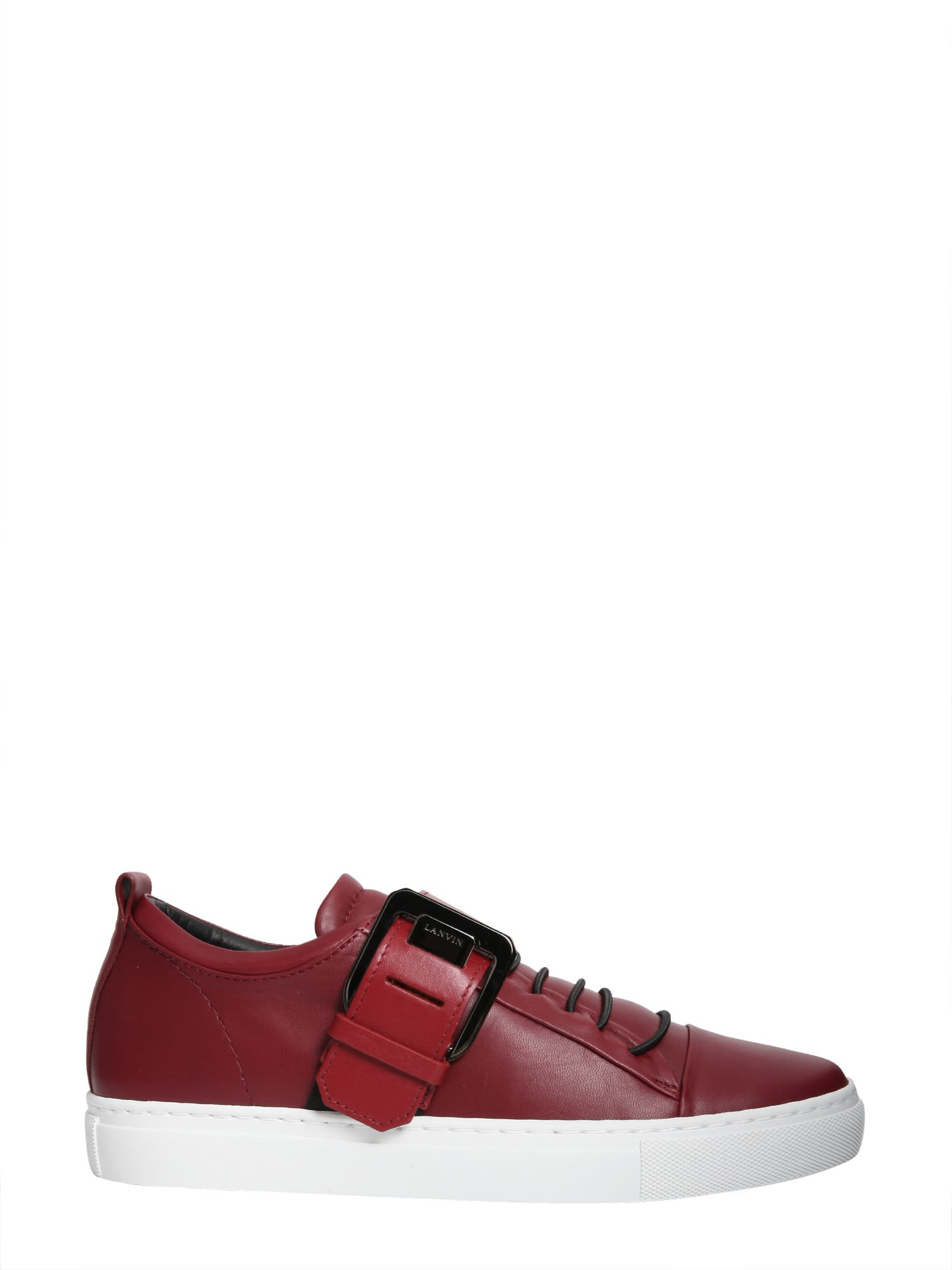 Lanvin Low-top Square Buckle Sneakers
