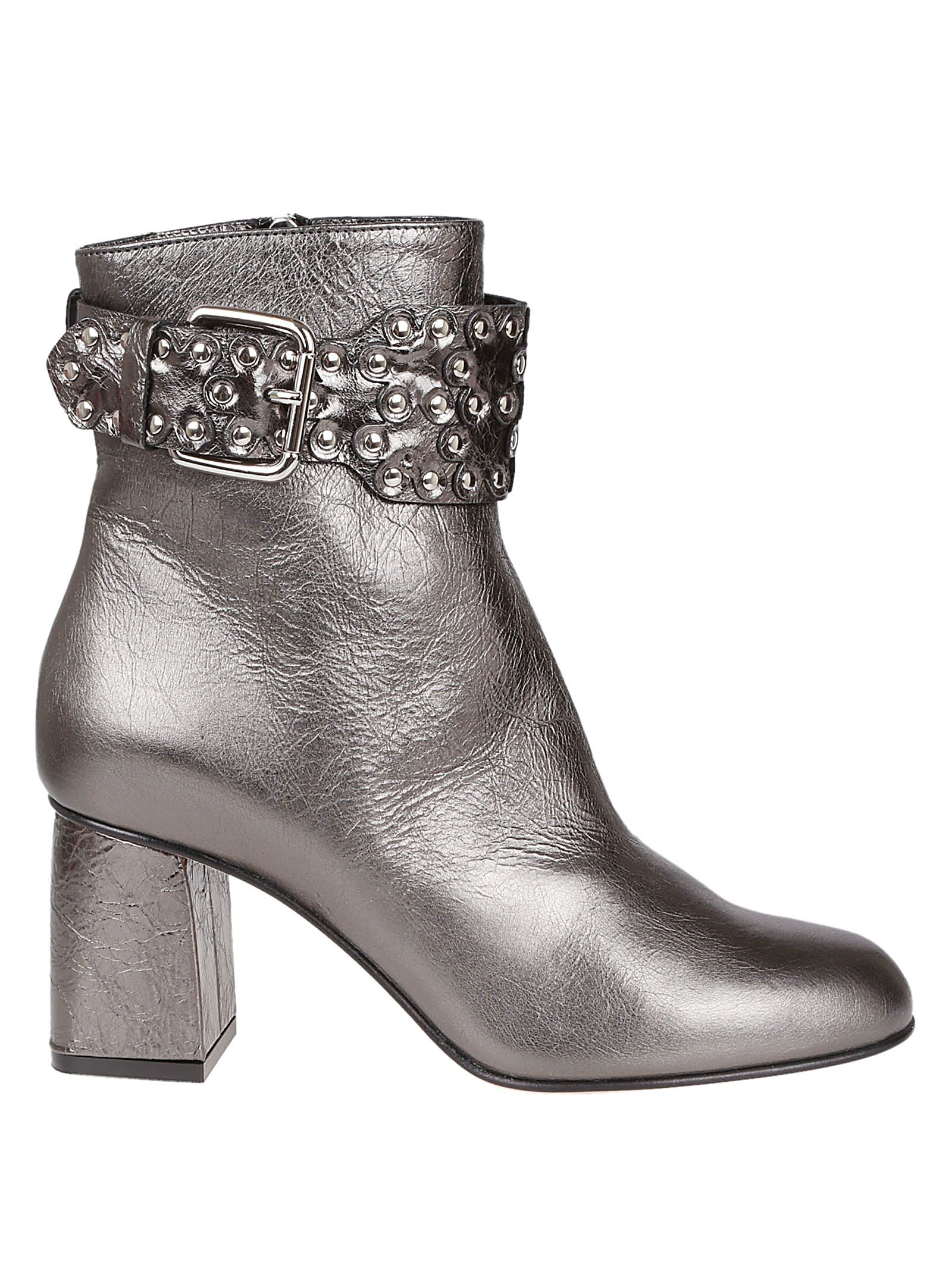 Red Valentino Studded Ankle Boots