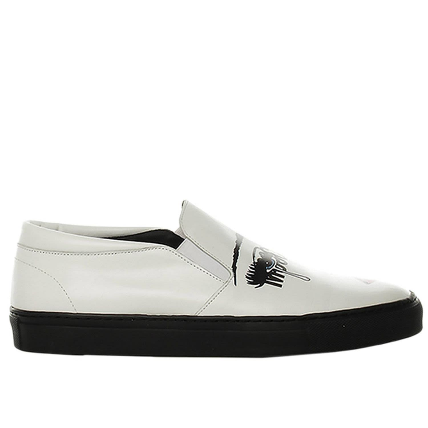 Moschino Couture Sneakers Sneakers Slip On Moschinoeyes Capsule Collection In Real Leather With Mosc